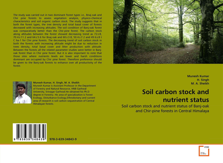 купить Soil carbon stock and nutrient status недорого