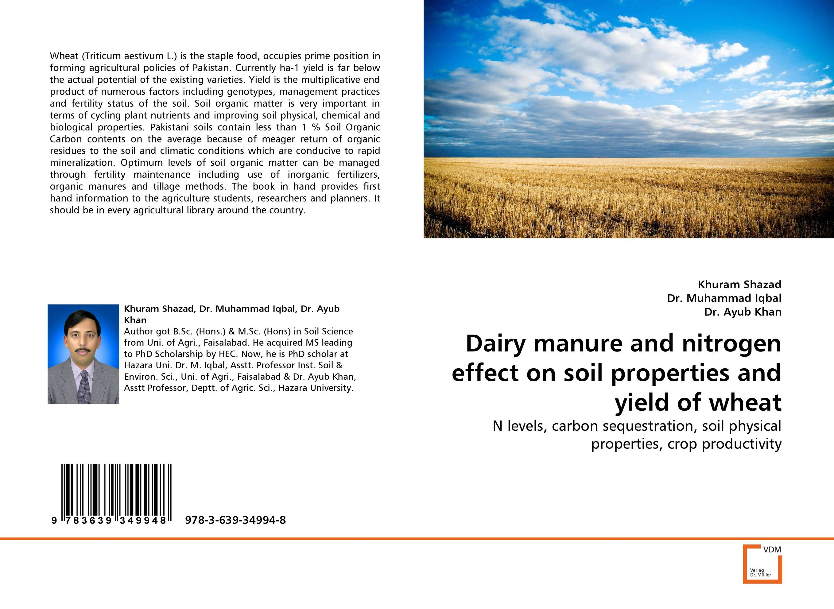 Dairy manure and nitrogen effect on soil properties and yield of wheat effect of methods of composting on quality of compost from wheat straw