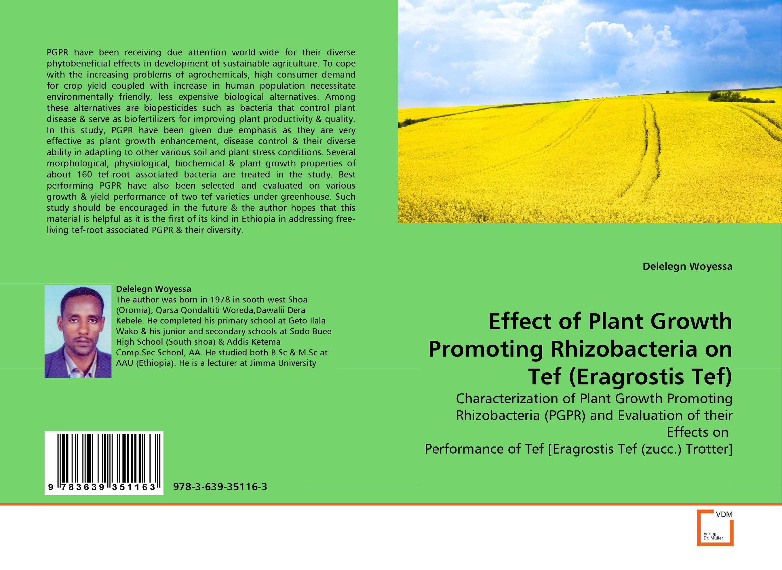 Effect of Plant Growth Promoting Rhizobacteria on Tef (Eragrostis Tef) plant growth promoting rhizobacteria