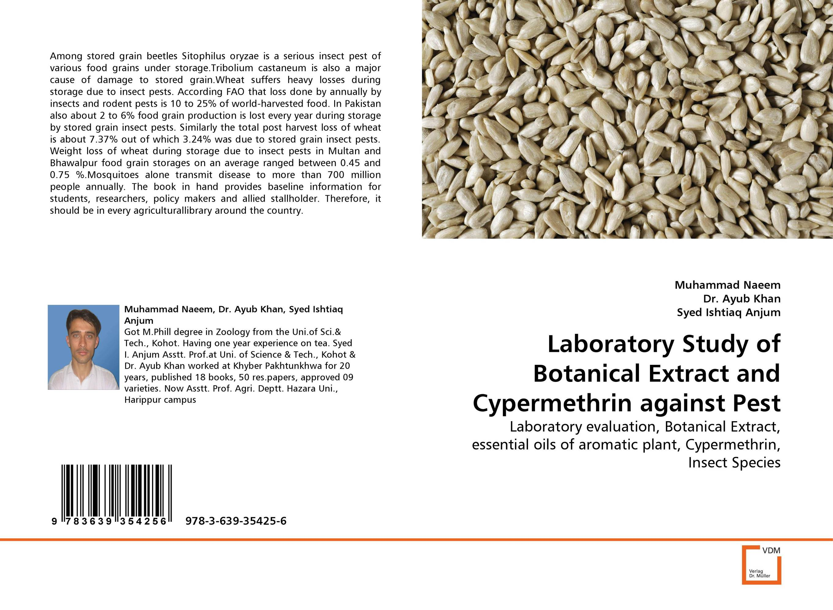Laboratory Study of Botanical Extract and Cypermethrin against Pest devices for detection and management of stored grain insects