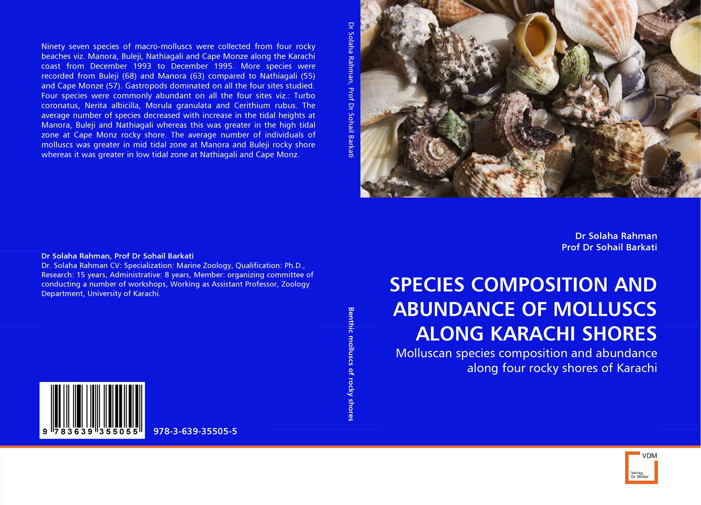 SPECIES COMPOSITION AND ABUNDANCE OF MOLLUSCS ALONG KARACHI SHORES