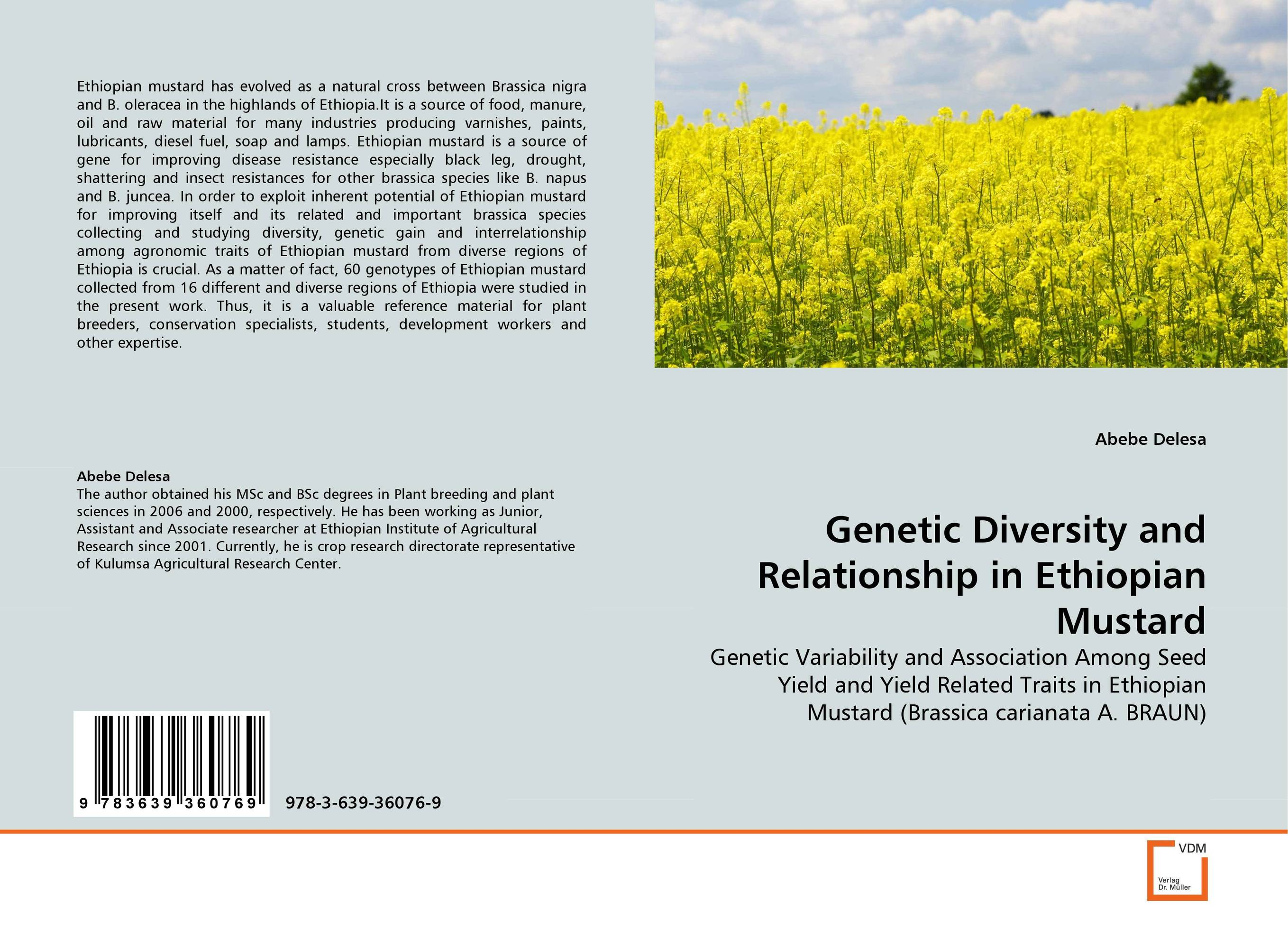 Genetic Diversity and Relationship in Ethiopian Mustard genanew bekele worku investment in land conservation in the ethiopian highlands
