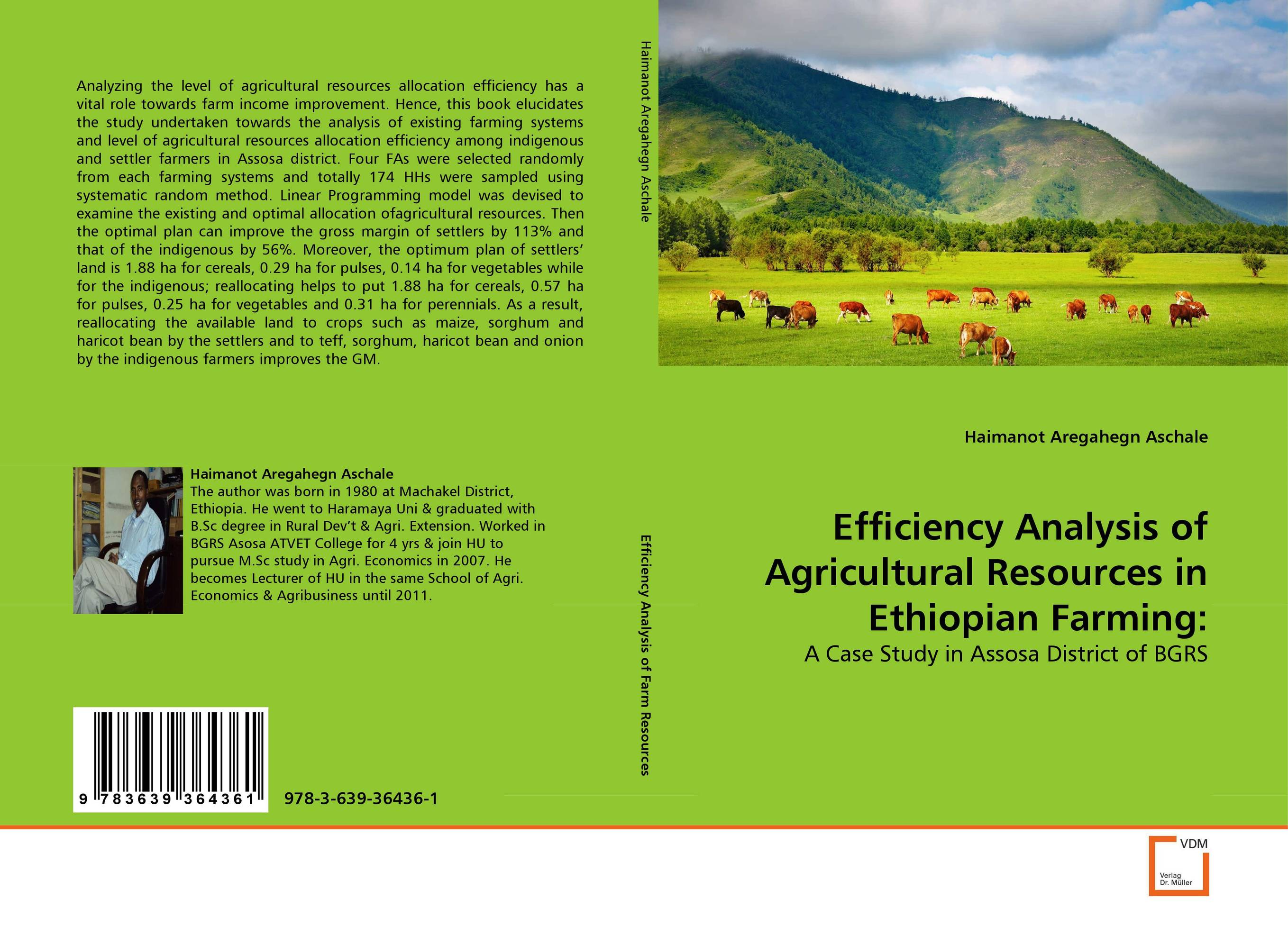 Efficiency Analysis of Agricultural Resources in Ethiopian Farming: socio linguistic analysis of the settlers in the brazilian amazon