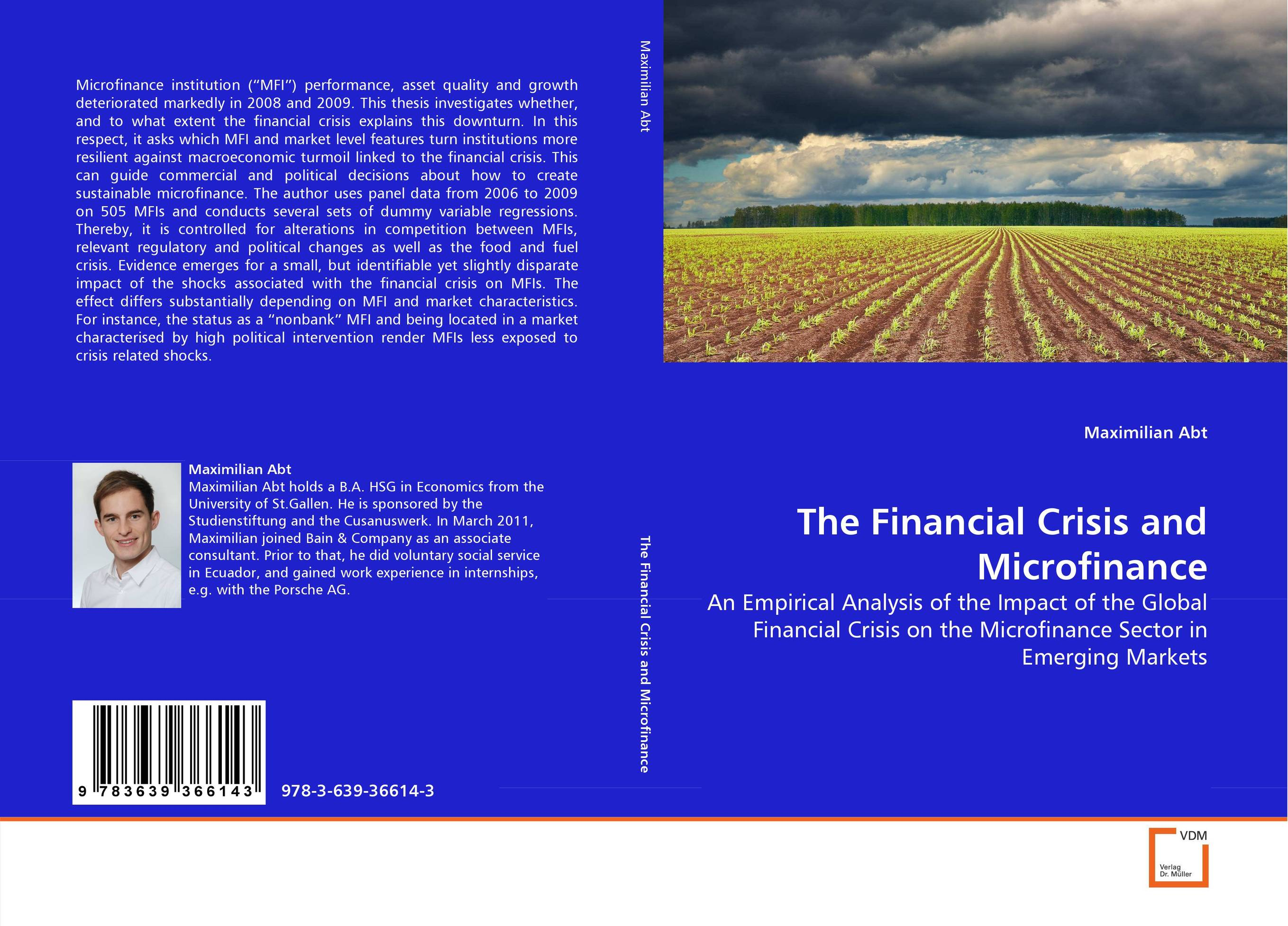 The Financial Crisis and Microfinance from financial crisis to economic and political distress