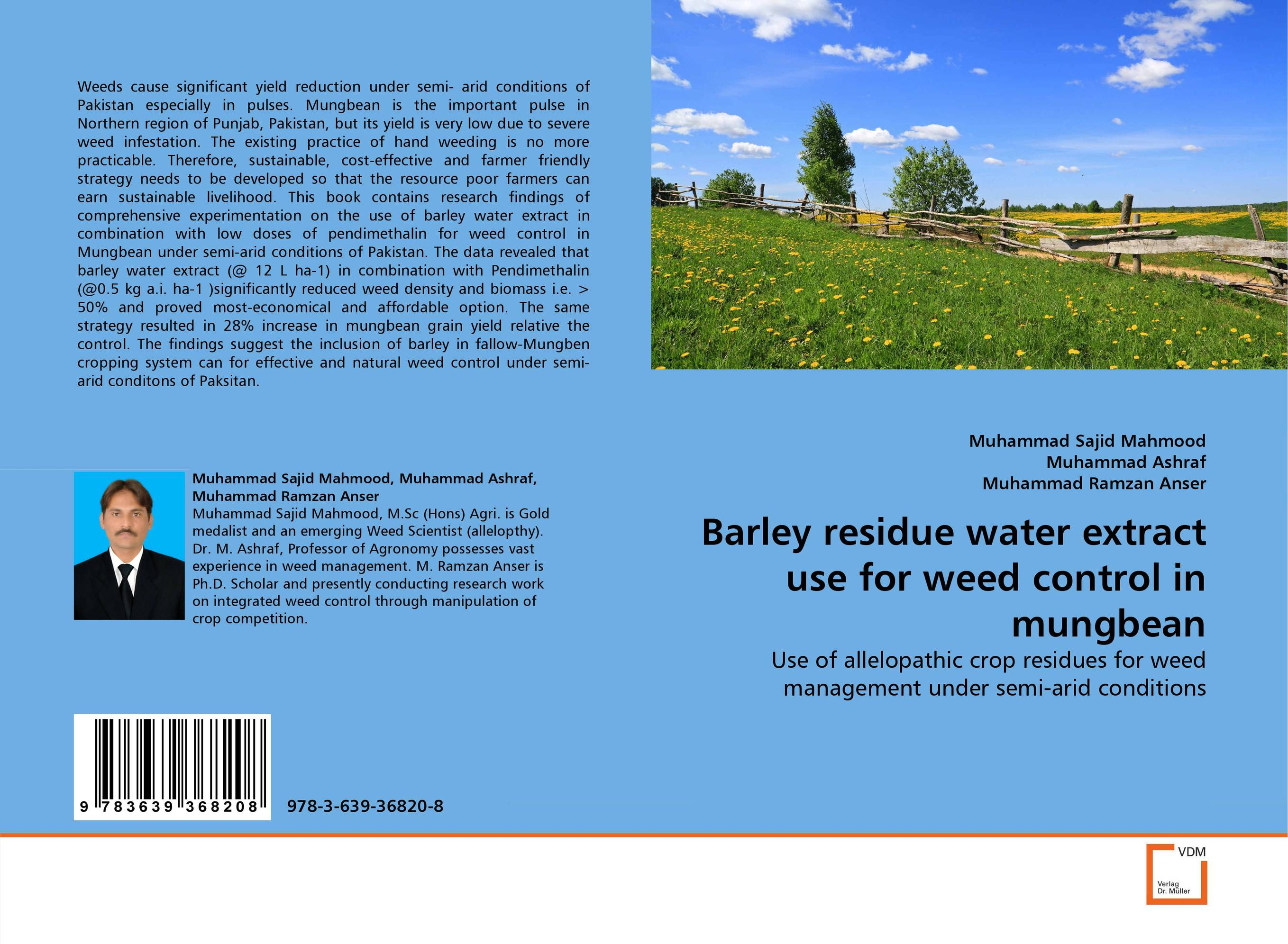 Barley residue water extract use for weed control in mungbean butterflies in the barley