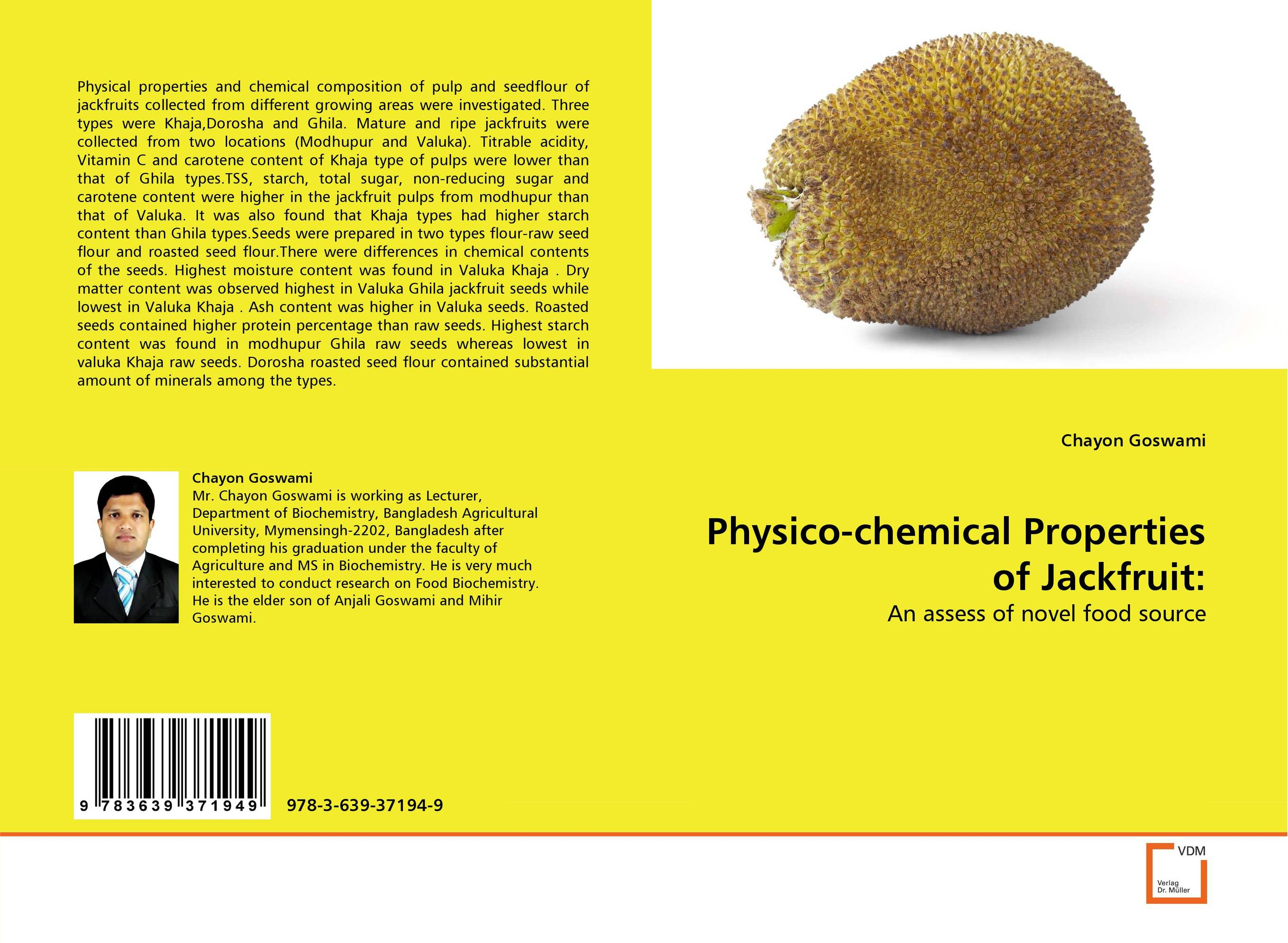 Physico-chemical Properties of Jackfruit Seeds: found in brooklyn
