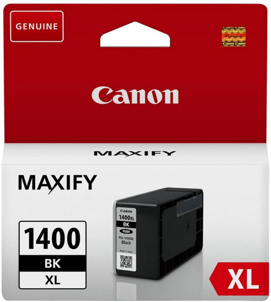 Canon PGI-1400XL, Black картридж для Maxify МВ2040/МВ2340 картридж canon pgi 1400y xl yellow для maxify мв2040 мв2340 9204b001
