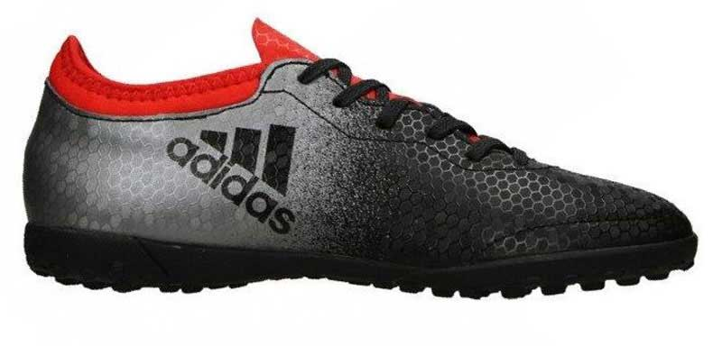 Бутсы для мальчика adidas X tango 16.3 tf j, цвет: черный, серый. BA9736. Размер 28BA9736Бутсы для мальчика Adidas X tango 16.3 tf j с верхом, выполненным из текстиля и резины. Верх techfit обеспечивает идеальную посадку без дополнительного разнашивания. Классическая шнуровка фиксирует модель на стопе. Стелька, выполненная из мягкого текстиля, обеспечивает комфорт и отличную амортизацию. Легкая подошва Cage Chaos для лучшего чувства поверхности и взрывной скорости на твердых покрытиях, таких как искусственный газон с коротким синтетическим ворсом.