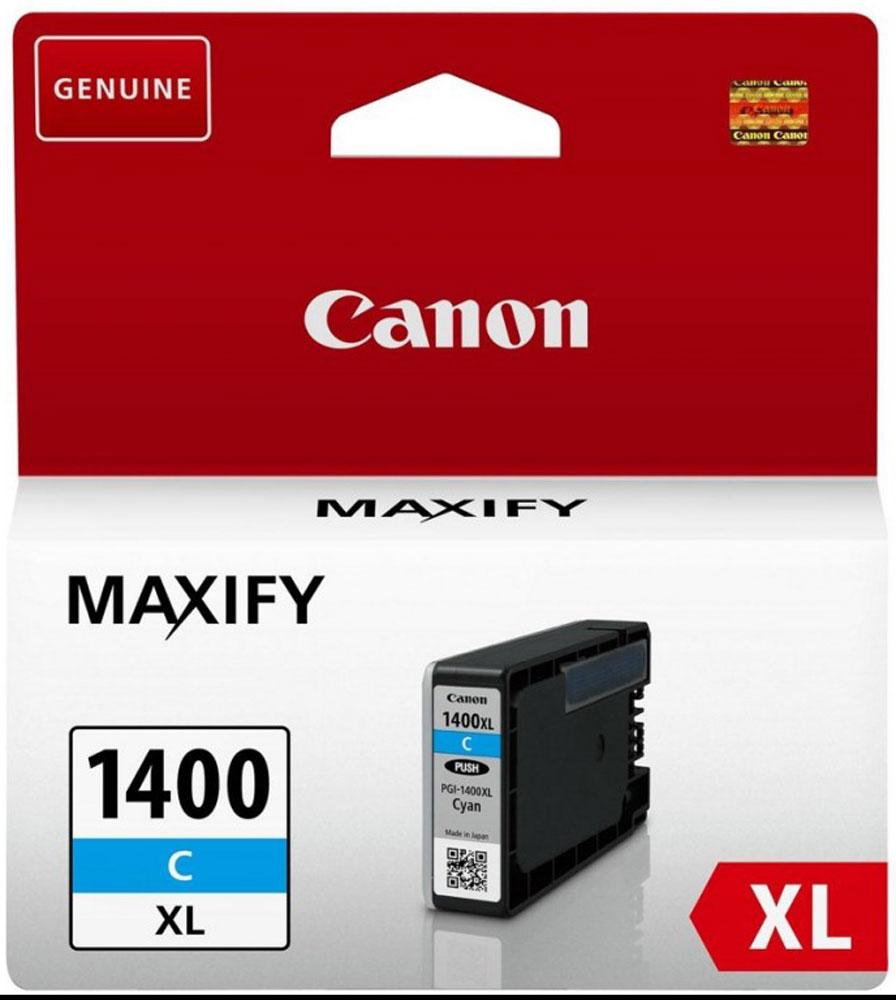 Canon PGI-1400XL, Cyan картридж для Maxify МВ2040/МВ23409202B001Оригинальный картридж Canon PGI-1400XL с оригинальными чернилами гарантирует профессиональный вид печатаемых документов и высокую производительность. Надежная печать без проблем. Точная цветопередача и быстрое высыхание. Для получения красивых и долговечных отпечатков сделайте выбор в пользу чернил Canon.