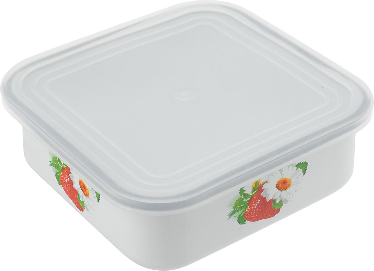 Блюдо для холодца Эмаль, с крышкой, 1 л01-2507п/4Сервировочное блюдо Эмаль, изготовленное из высококачественной эмалированной стали, прекрасно подойдет для заливного или холодца и для хранения слоеных салатов. Пластиковая крышка, входящая в комплект, сохранит свежесть вашего блюда. Такое блюдо украсит сервировку вашего стола и подчеркнет прекрасный вкус хозяйки.Не использовать в микроволновой печи.
