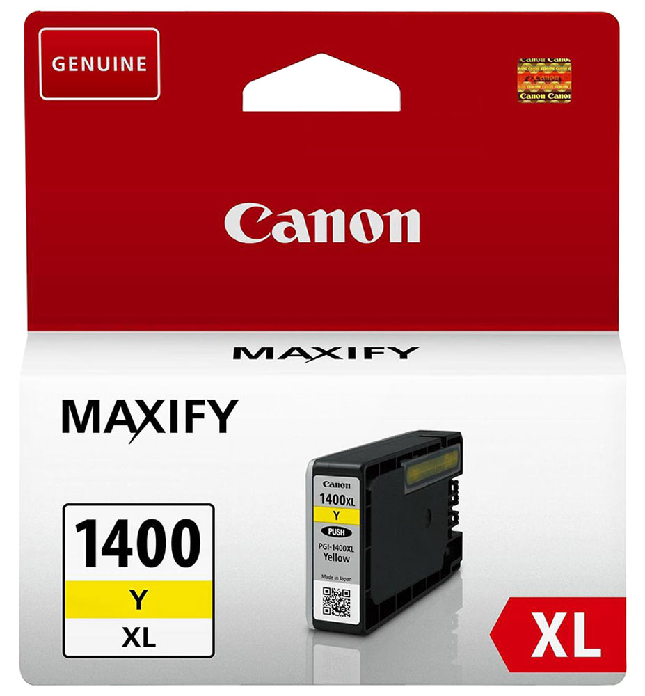 Canon PGI-1400XL, Yellow картридж для Maxify МВ2040/МВ2340 картридж canon pgi 29 c 4873b001