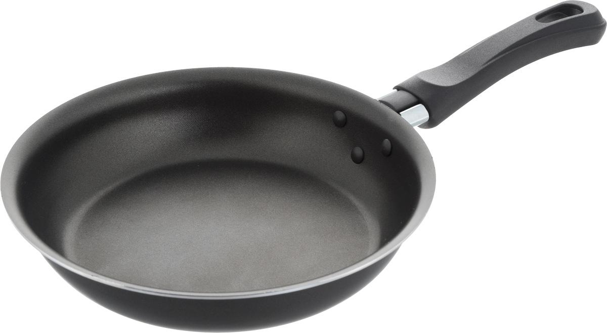 Сковорода Калитва , с антипригарным покрытием. Диаметр 18 см39671815СковородаКалитваизготовлена из алюминия спротивопригорающим покрытием. Благодаря этому пища не пригорает и не прилипает к стенкам. Готовить можно с минимальным количеством масла и жиров. Гладкая поверхность обеспечивает легкость ухода за посудой. Изделие оснащено удобной ручкой из пластика, которая не нагревается. Сковорода подходит для использования на газовых, электрических и стеклокерамических плитах. Можно мыть в посудомоечной машине.Диаметр сковороды (по верхнему краю): 18 см.Высота стенки: 4,4 см.Длина ручки: 12,5 см.