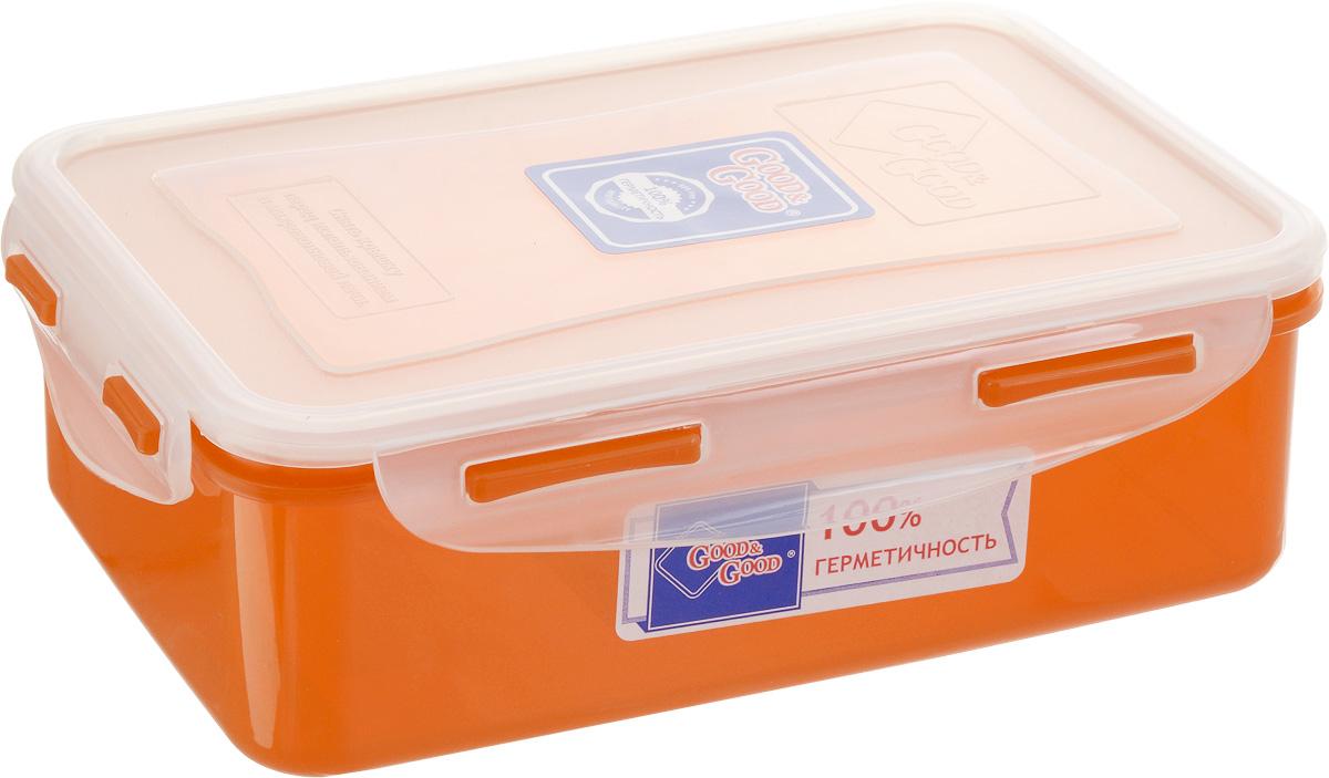 Контейнер пищевой Good&Good, цвет: прозрачный, оранжевый, 1,1 л eay58470001 lgp4247 09s e247691 good working tested