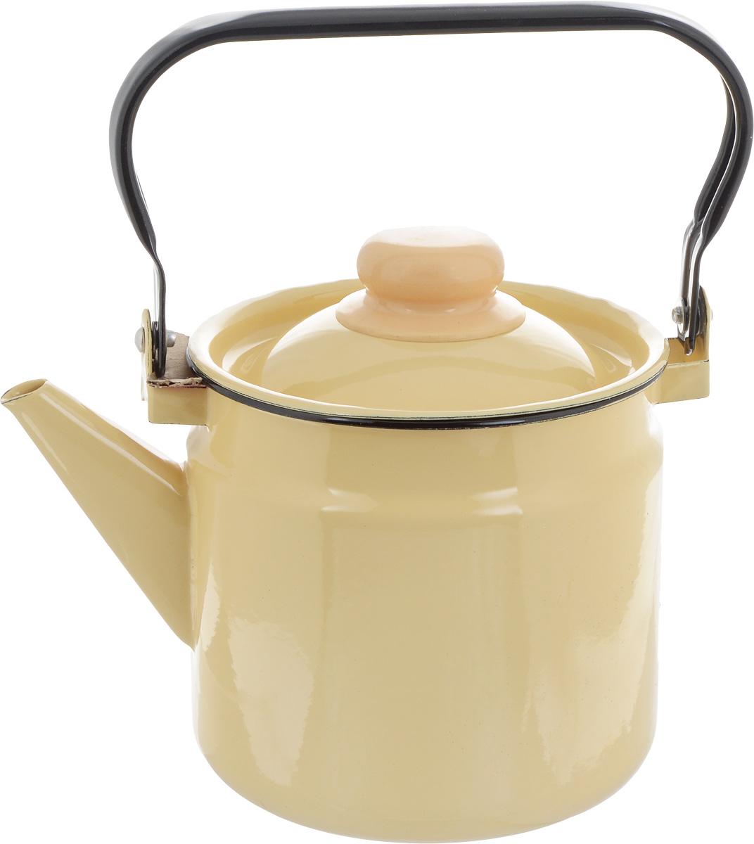 """Чайник """"СтальЭмаль"""" выполнен из высококачественного стального проката, покрытого двумя слоями жаропрочной эмали. Такое покрытие защищает сталь от коррозии, придает посуде гладкую стекловидную поверхность и надежно защищает от кислот и щелочей. Чайник оснащен подвижной стальной ручкой и крышкой. Внешние стенки дополнены нежным цветочным узором. Эстетичный и функциональный чайник будет оригинально смотреться в любом интерьере. Подходит для газовых, электрических, стеклокерамических, индукционных плит. Можно мыть в посудомоечной машине. Диаметр (по верхнему краю): 15 см.Высота чайника (без учета ручки и крышки): 14,5 см."""