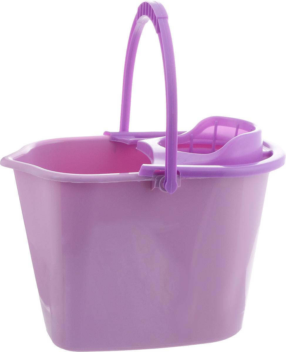 Ведро для уборки York, с насадкой для отжима швабры, цвет: сиреневый, фиолетовый, 10 л7002_сиреневыйВедро York, изготовленное из полипропилена, порадует практичных хозяек. Изделие снабжено специальной насадкой, которая обеспечивает интенсивный отжим ленточных швабр. Это значительно уменьшает физические нагрузки при мытье полов. Насадка надежно крепится на ведро и также легко снимается, позволяя хранить ее отдельно. Для удобного использования ведро оснащено эргономичной ручкой.Размер ведра (по верхнему краю): 35 х 22 см.Высота ведра: 24 см.