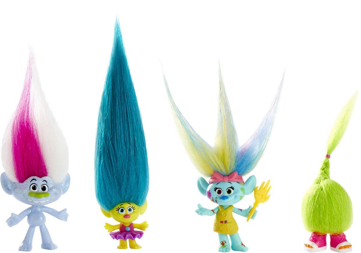 Trolls Набор фигурок Wild Hair Pack 4 шт trolls канцелярский набор 4 предмета