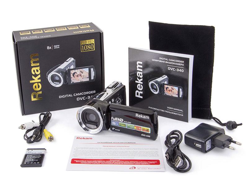 Rekam DVC-340, Blackцифровая видеокамера Rekam