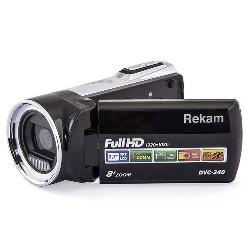 Rekam DVC-340, Black цифровая видеокамера цифровая фоторамка rekam visavis l 137