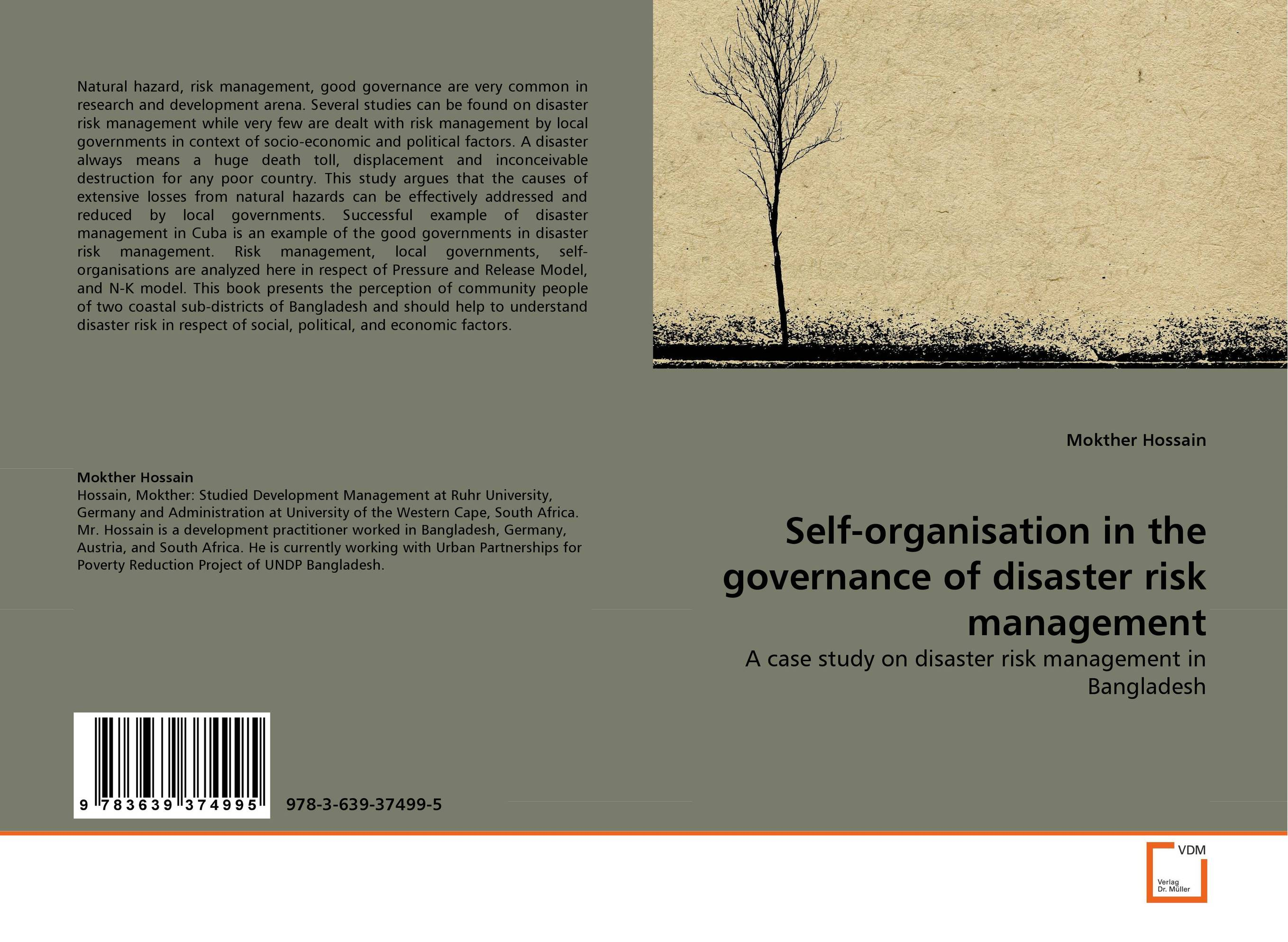 Фото Self-organisation in the governance of disaster risk management business and ethics in a country with political socio economic crisis