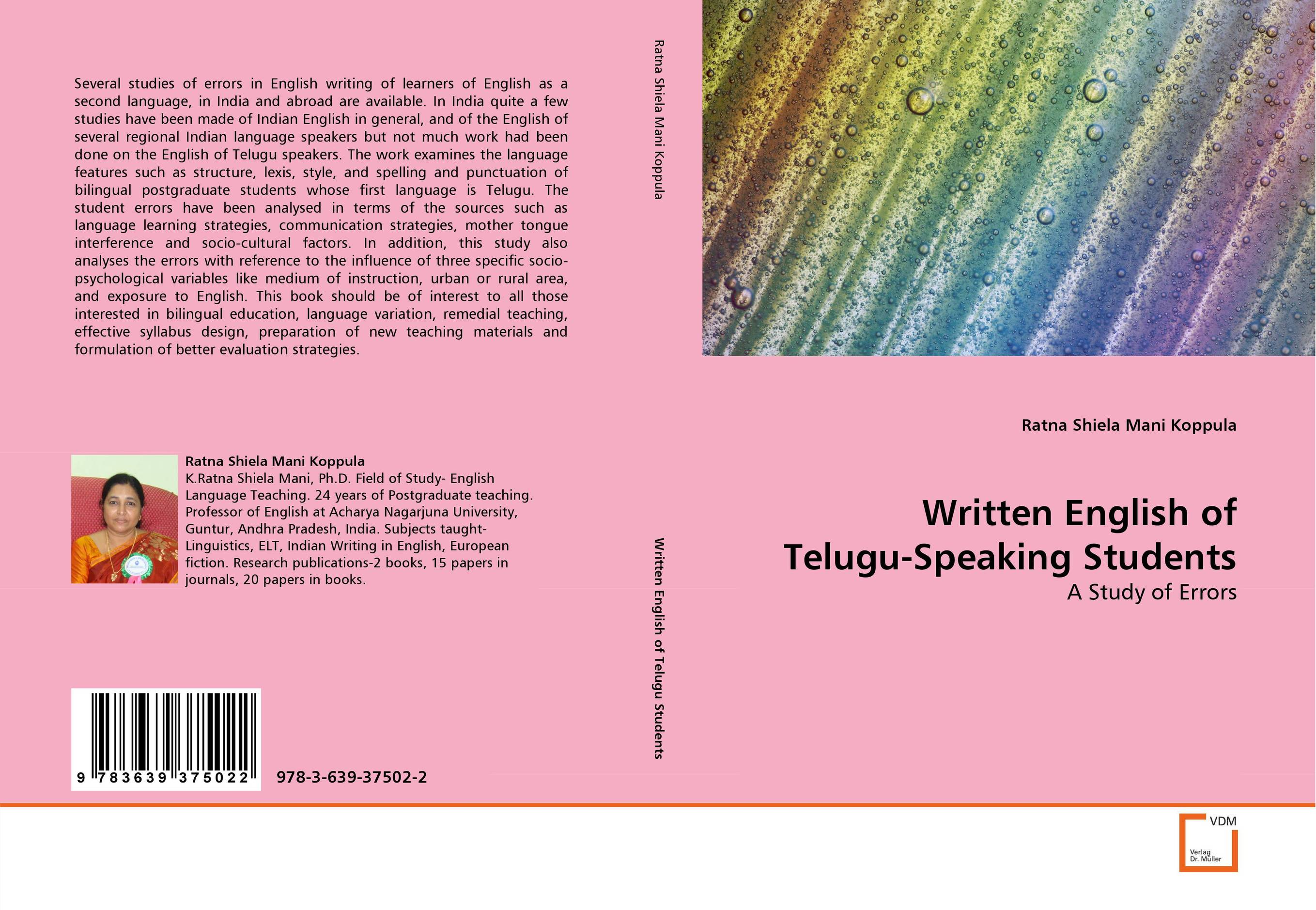 Written English of Telugu-Speaking Students the teaching of english pronunciation in indian higher primary schools