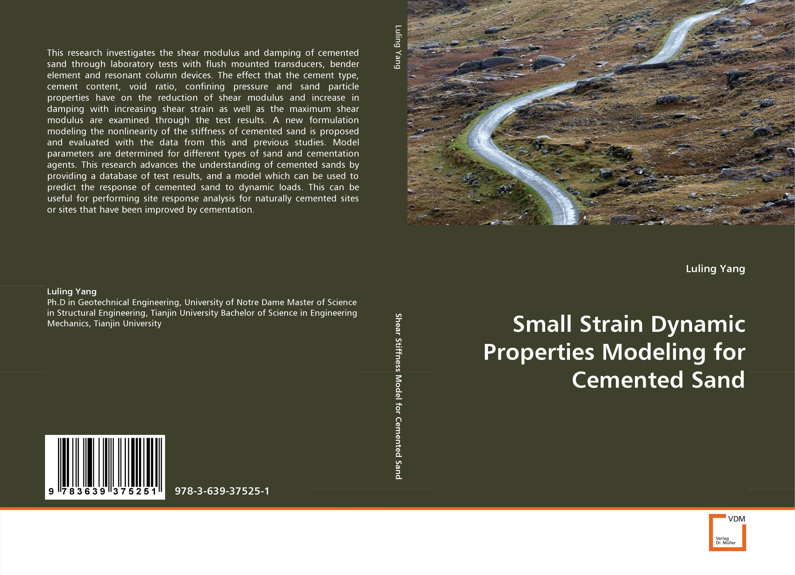 Small Strain Dynamic Properties Modeling for Cemented Sand small strain dynamic properties modeling for cemented sand