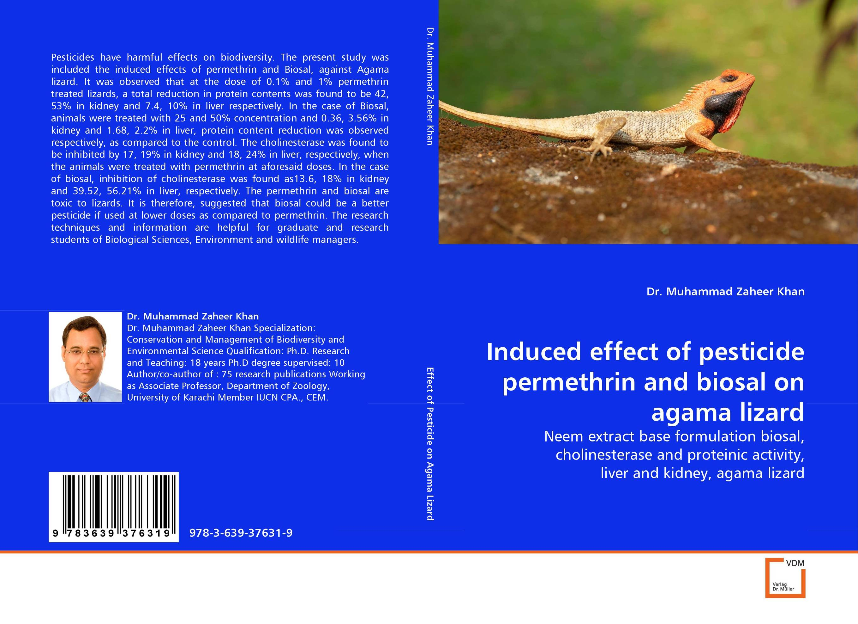 Induced effect of pesticide permethrin and biosal on agama lizard found in brooklyn