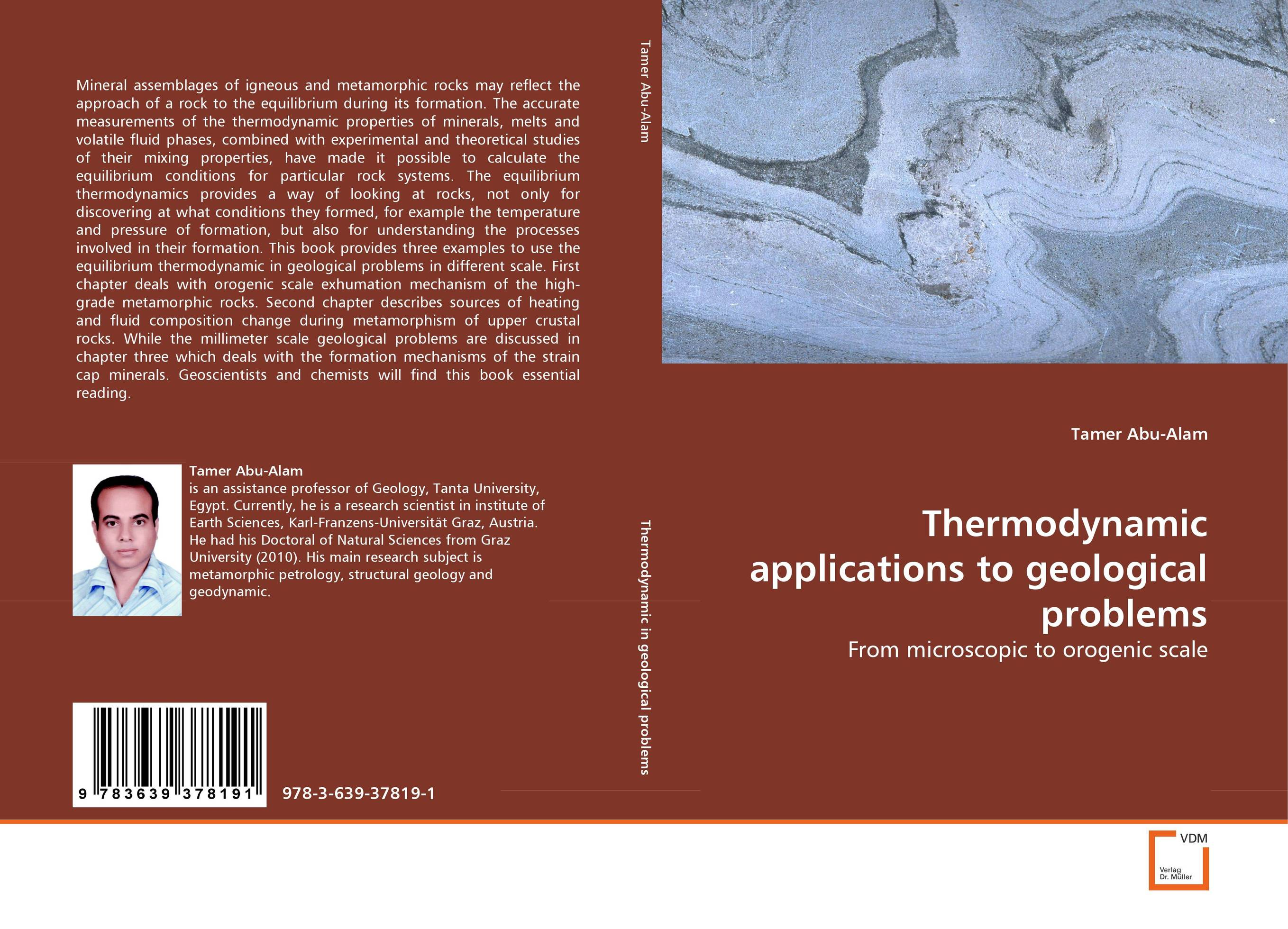 Thermodynamic applications to geological problems