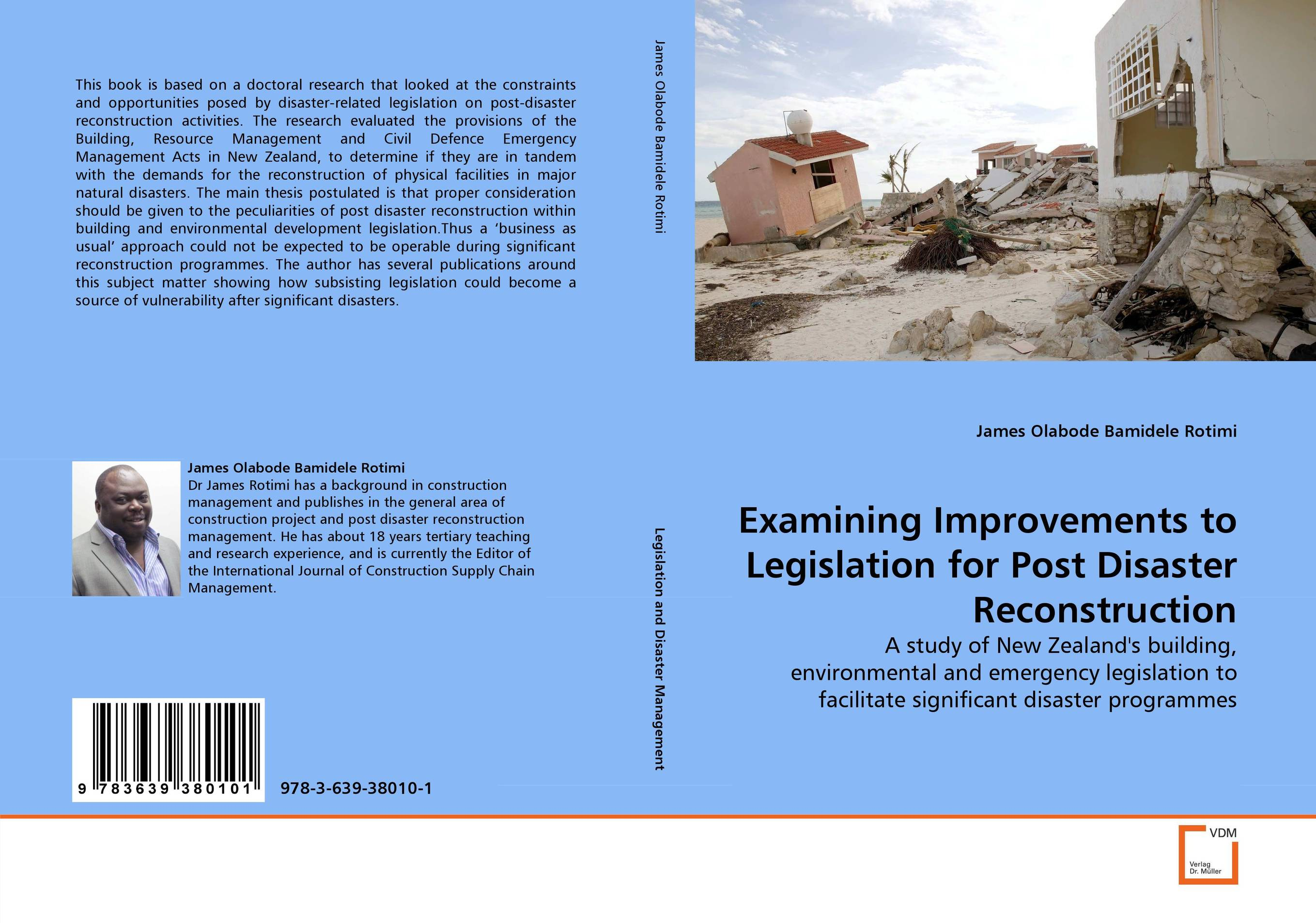 Examining Improvements to Legislation for Post Disaster Reconstruction haas reconstruction following disaster