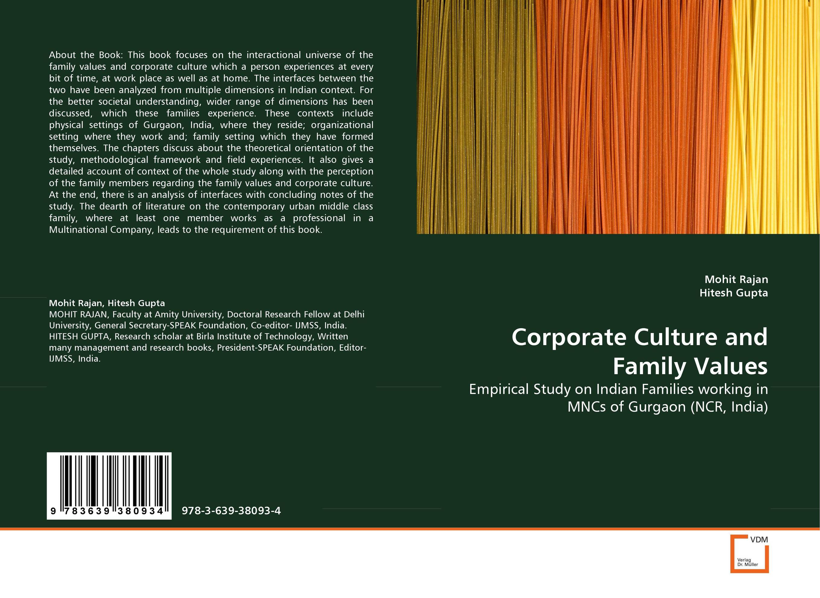 Corporate Culture and Family Values