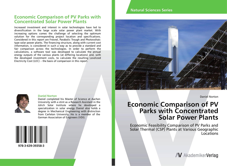 Economic Comparison of PV Parks with Concentrated Solar Power Plants economic methodology
