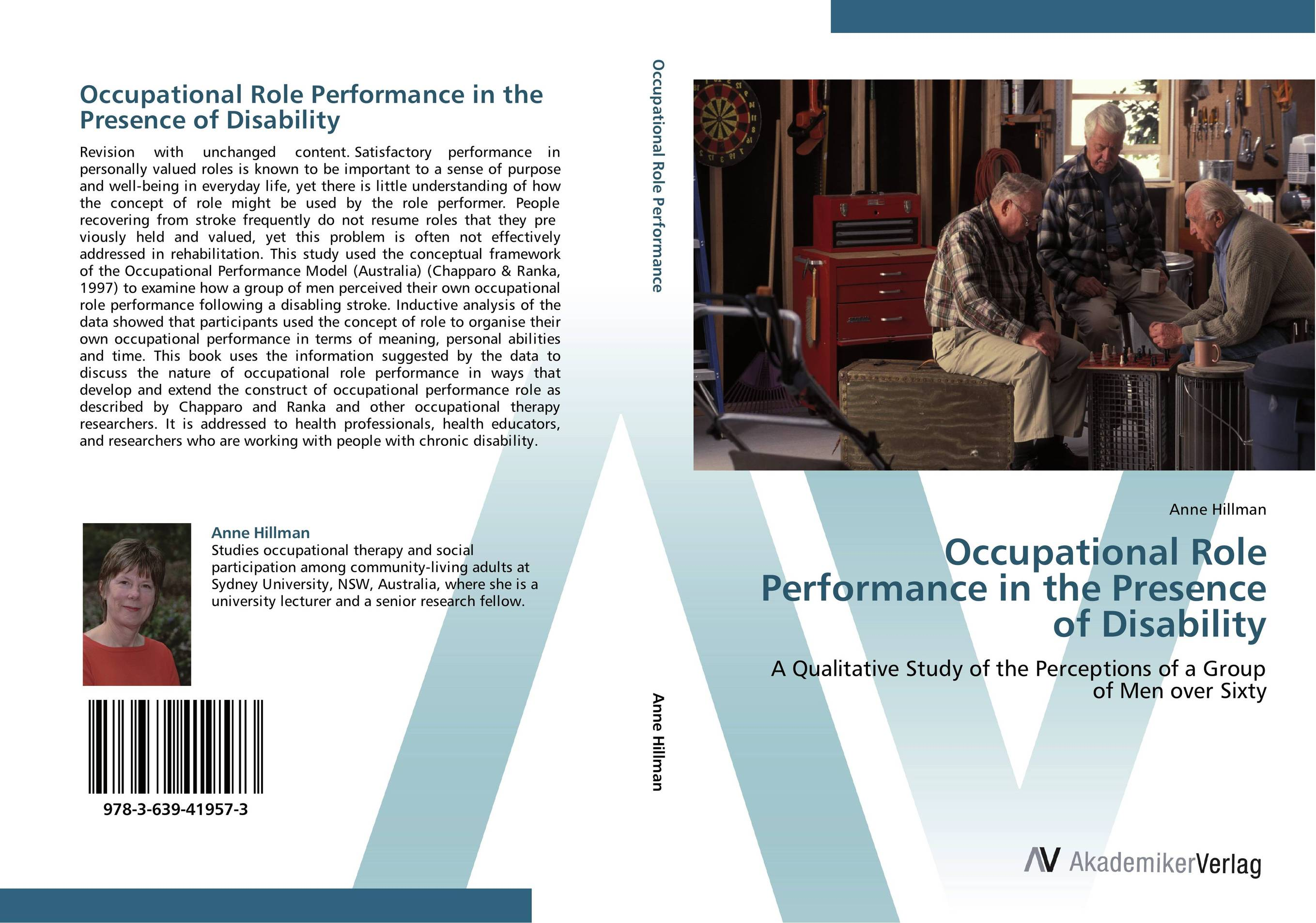 Occupational Role Performance in the Presence of Disability judi edmans occupational therapy and stroke