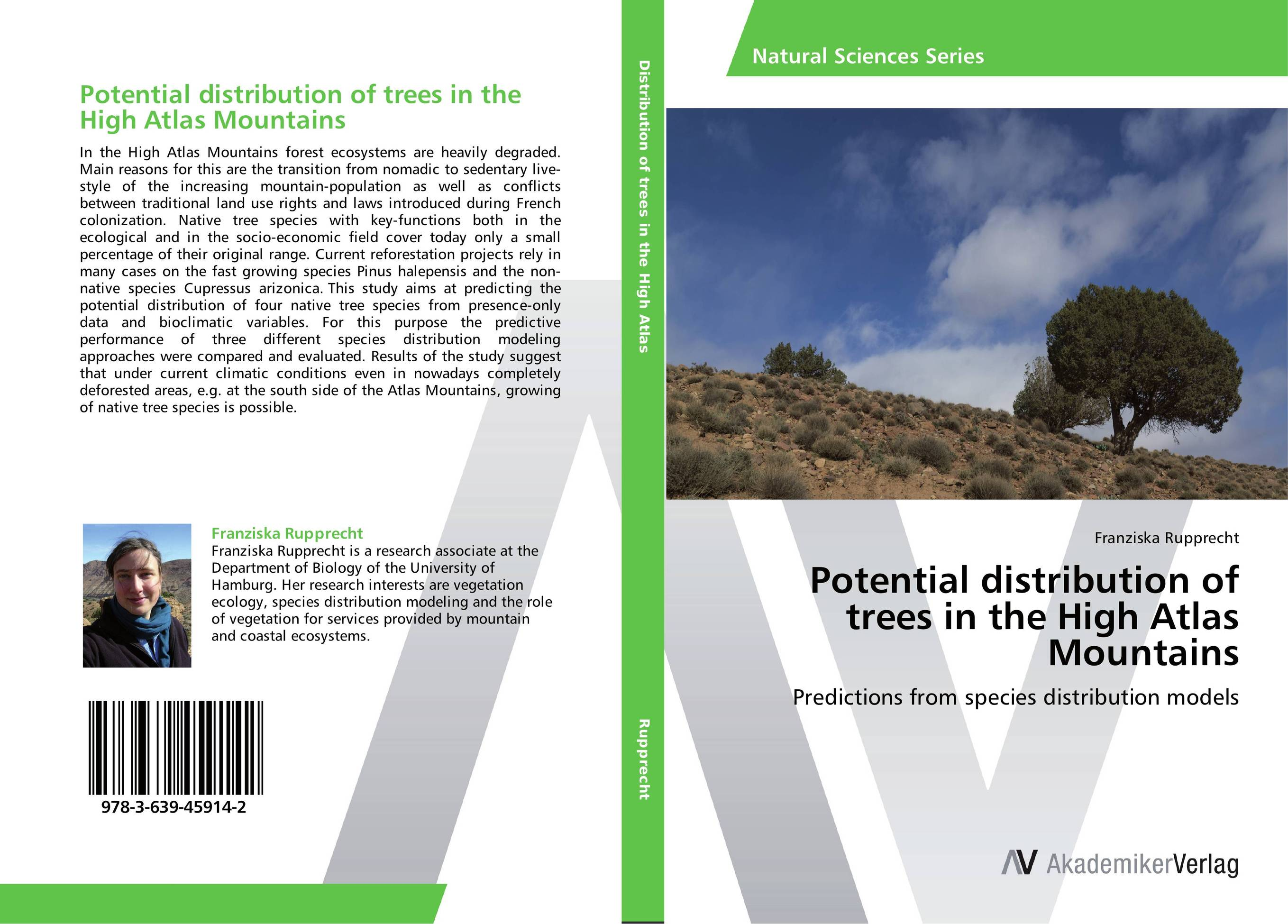 Potential distribution of trees in the High Atlas Mountains the trees trees the garden of jane delawney lp