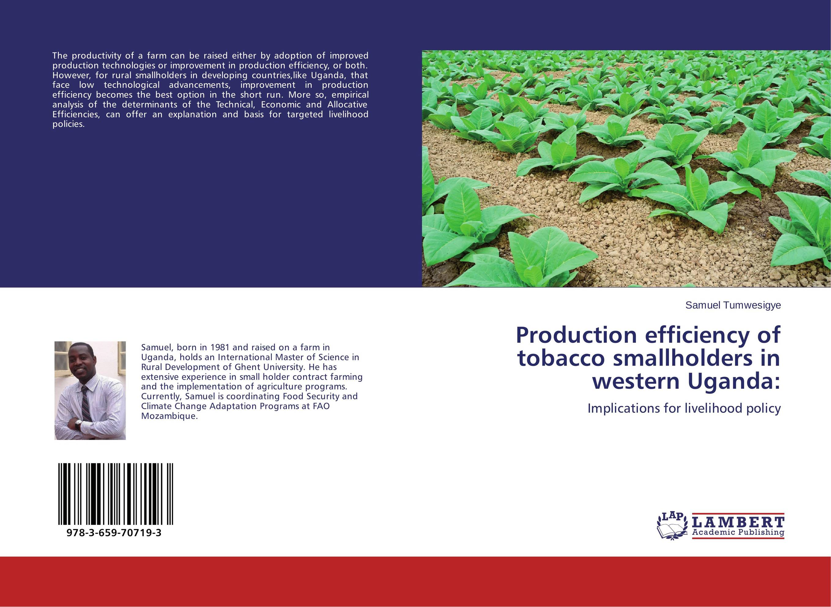 Production efficiency of tobacco smallholders in western Uganda: lipid production by oleaginous yeasts