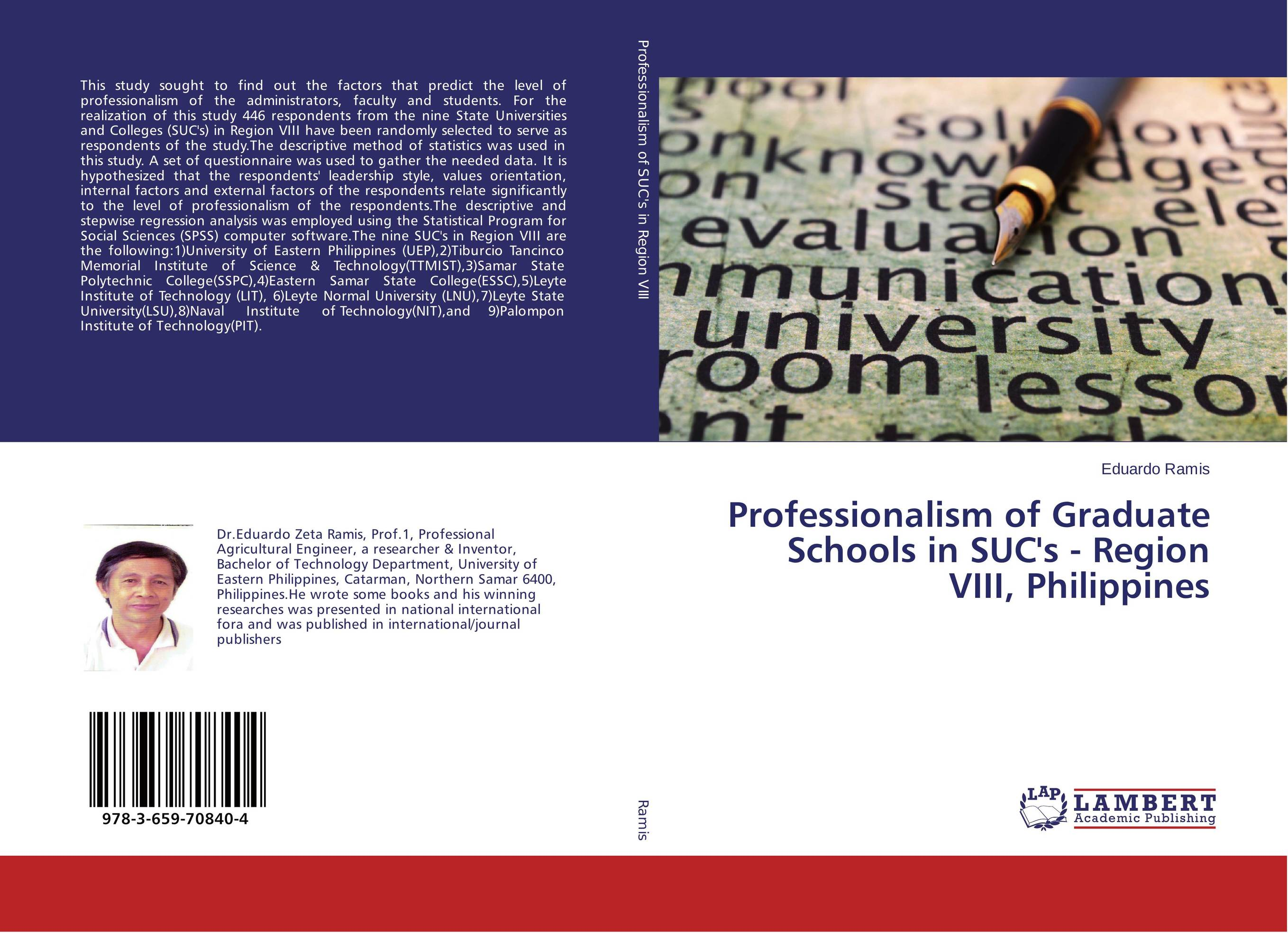 Professionalism of Graduate Schools in SUC's - Region VIII, Philippines модель дома if the state of science and technology 3d