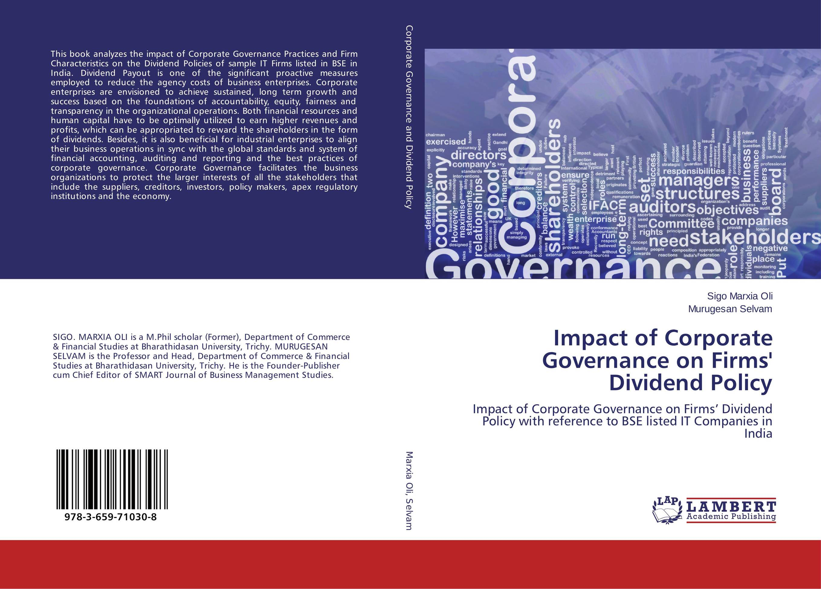 Impact of Corporate Governance on Firms' Dividend Policy dysfunctions in accounting and the role of corporate lobbying