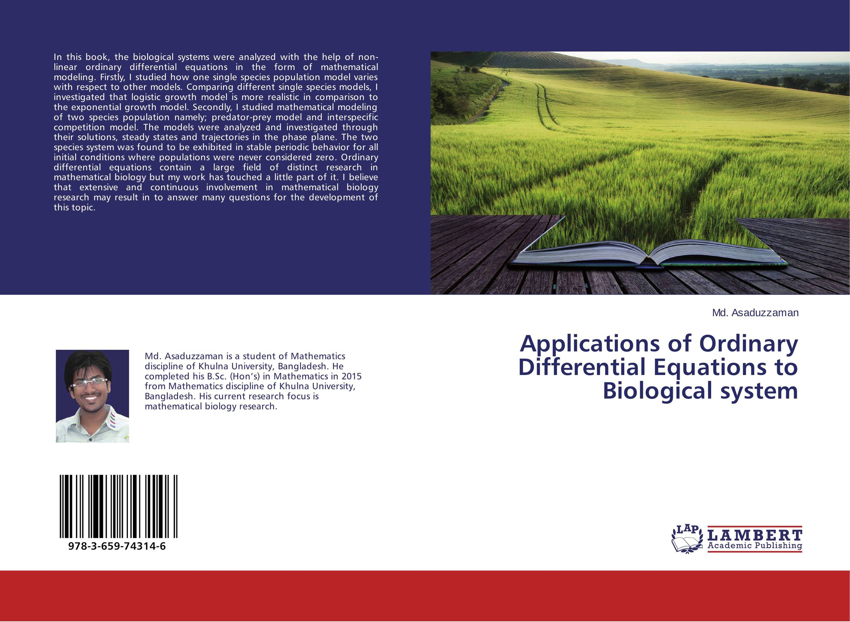 Applications of Ordinary Differential Equations to Biological system
