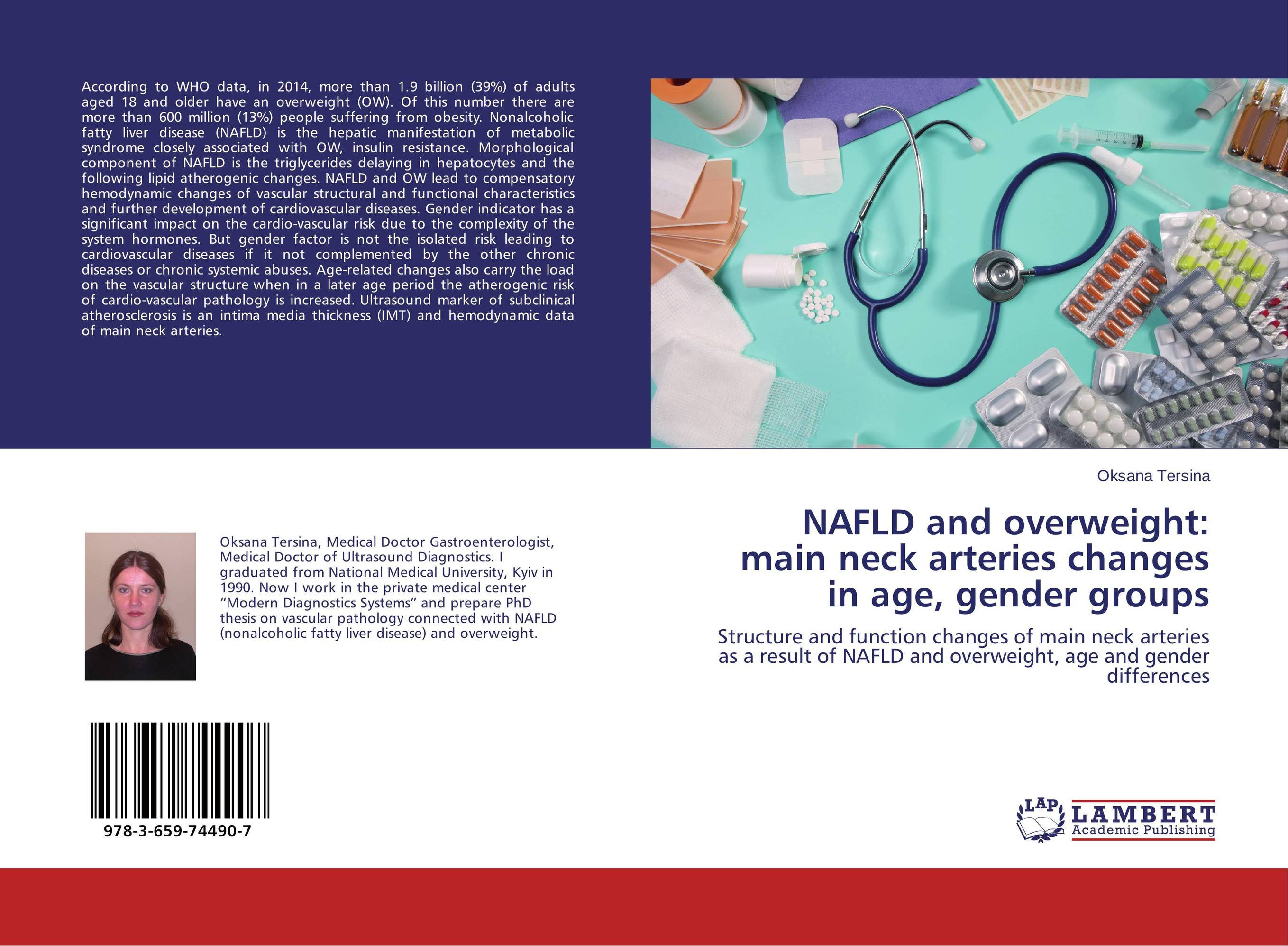NAFLD and overweight: main neck arteries changes in age, gender groups cardiovascular changes and unconjugated hyperbilirubinemia in neonates