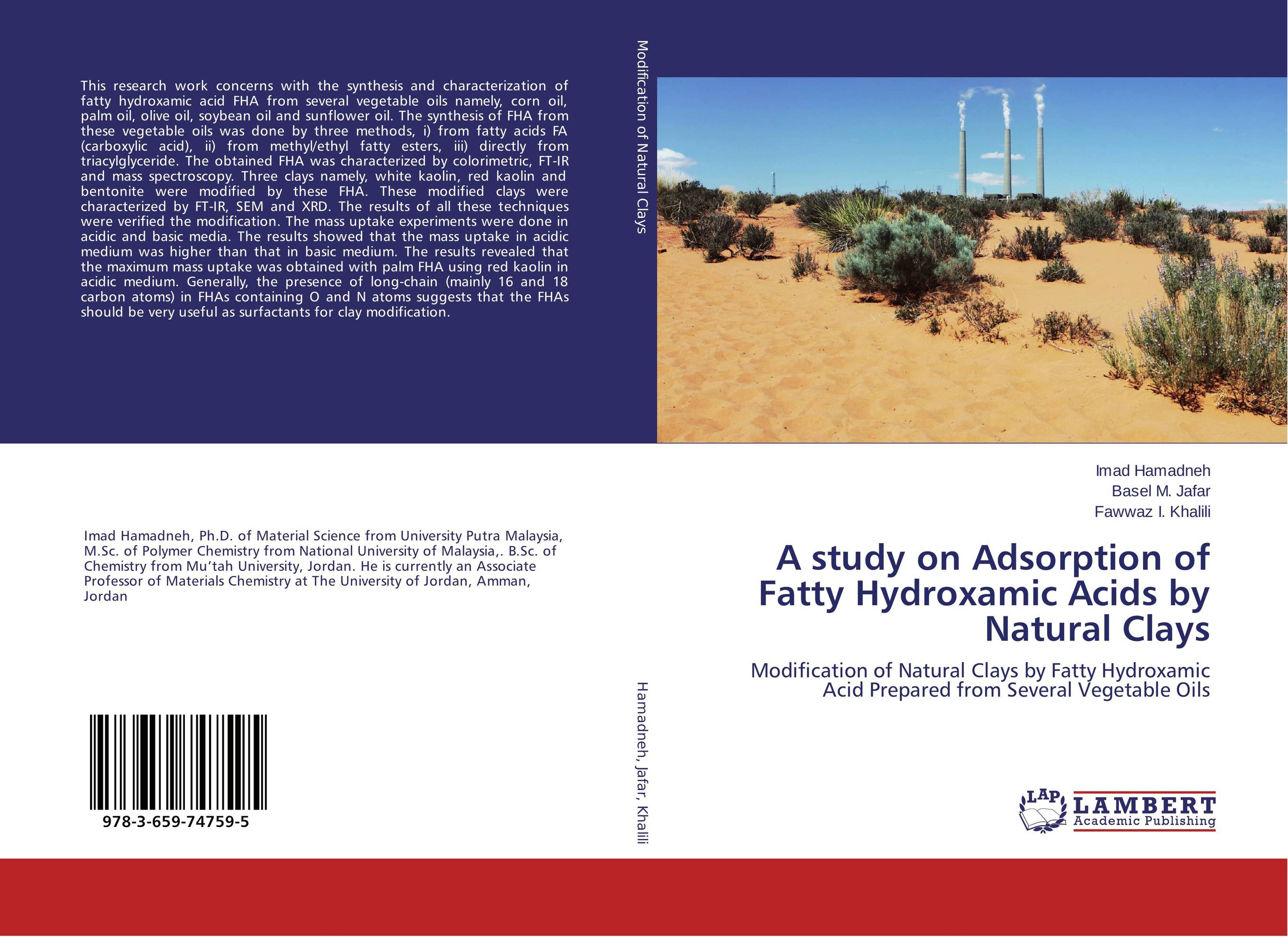 A study on Adsorption of Fatty Hydroxamic Acids by Natural Clays