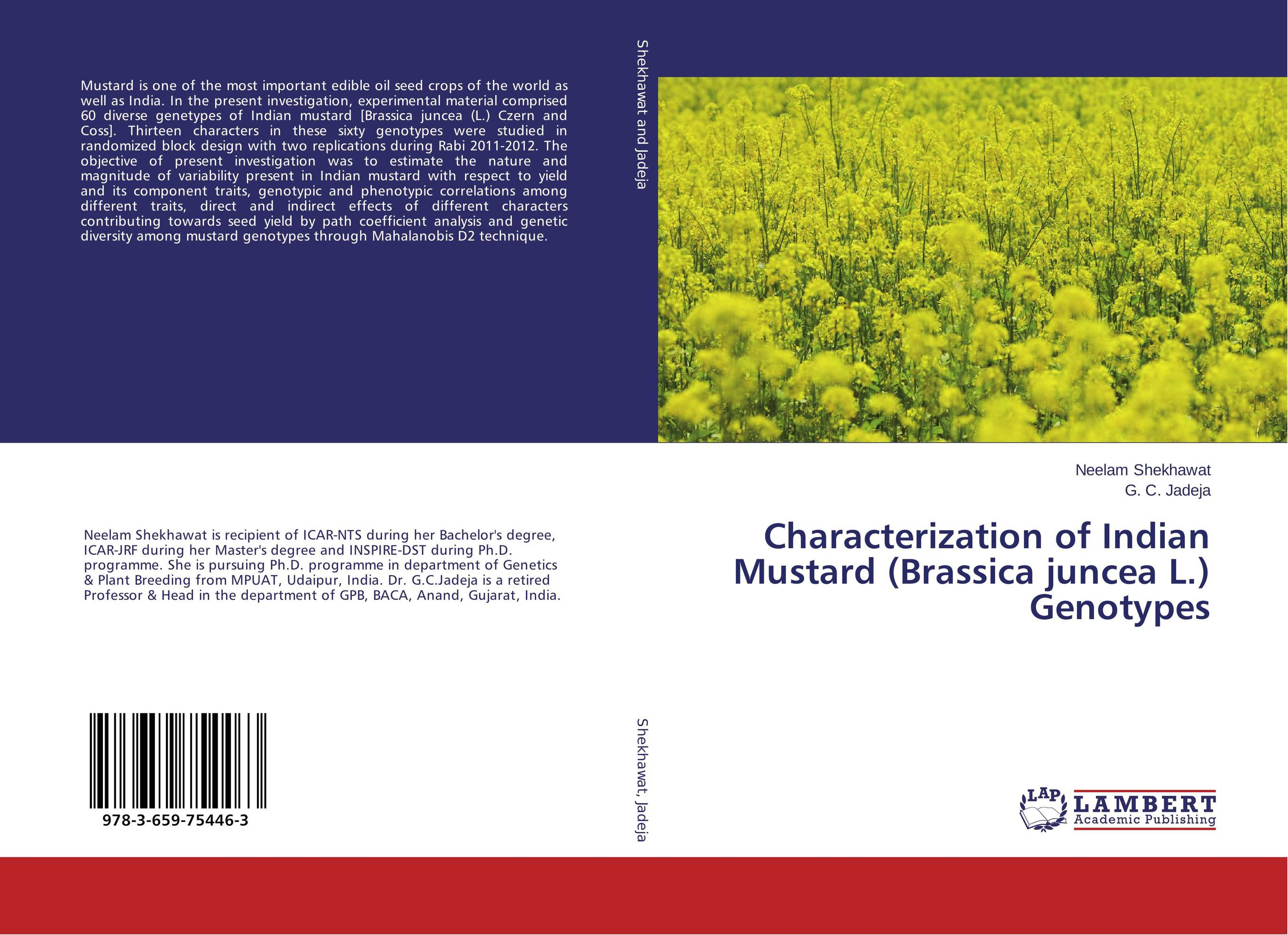 Characterization of Indian Mustard (Brassica juncea L.) Genotypes binod kumar and anil pandey genetic divergence and heterosis in indian mustard
