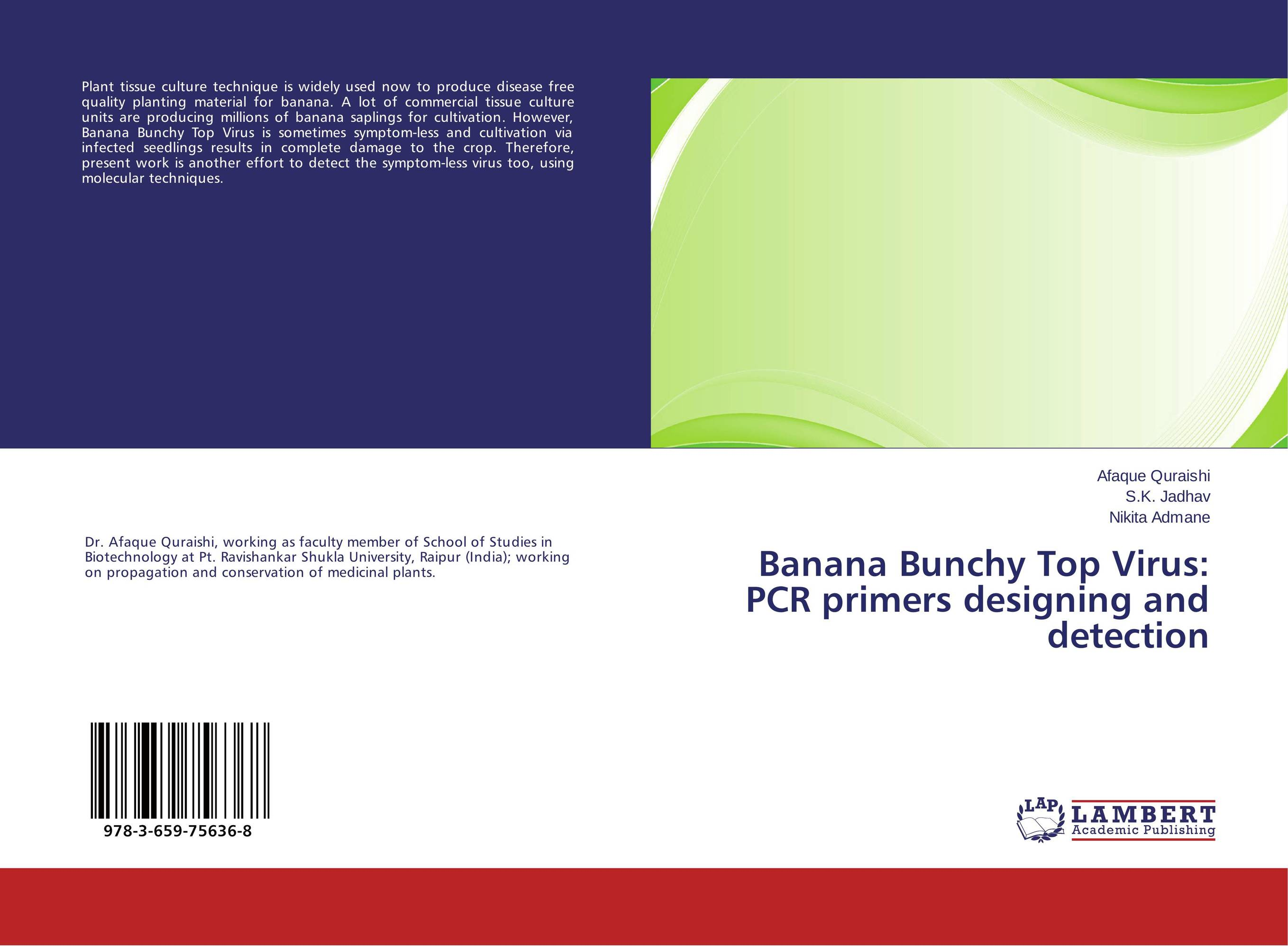 Banana Bunchy Top Virus: PCR primers designing and detection in situ detection of dna damage methods and protocols