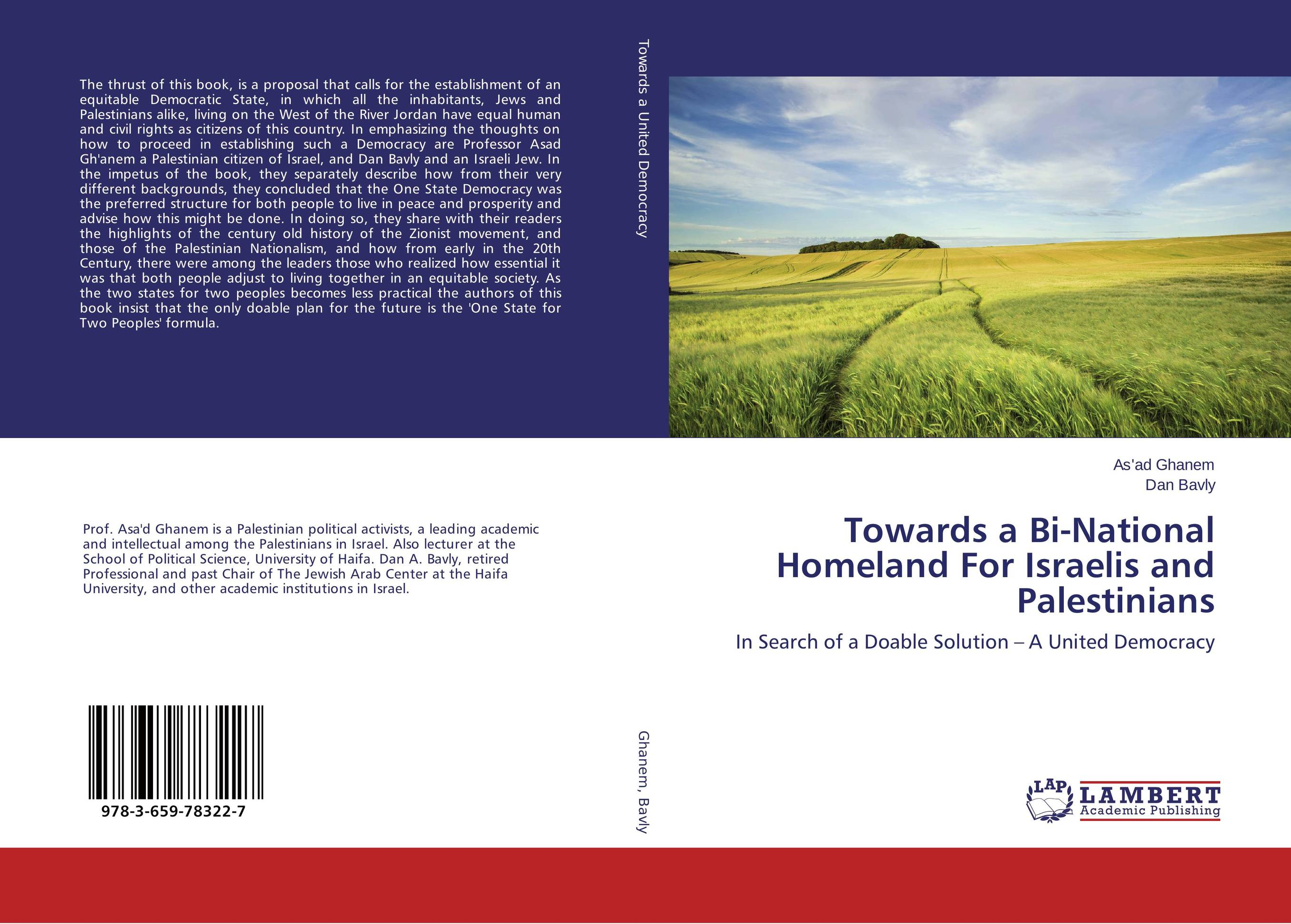 Towards a Bi-National Homeland For Israelis and Palestinians affair of state an