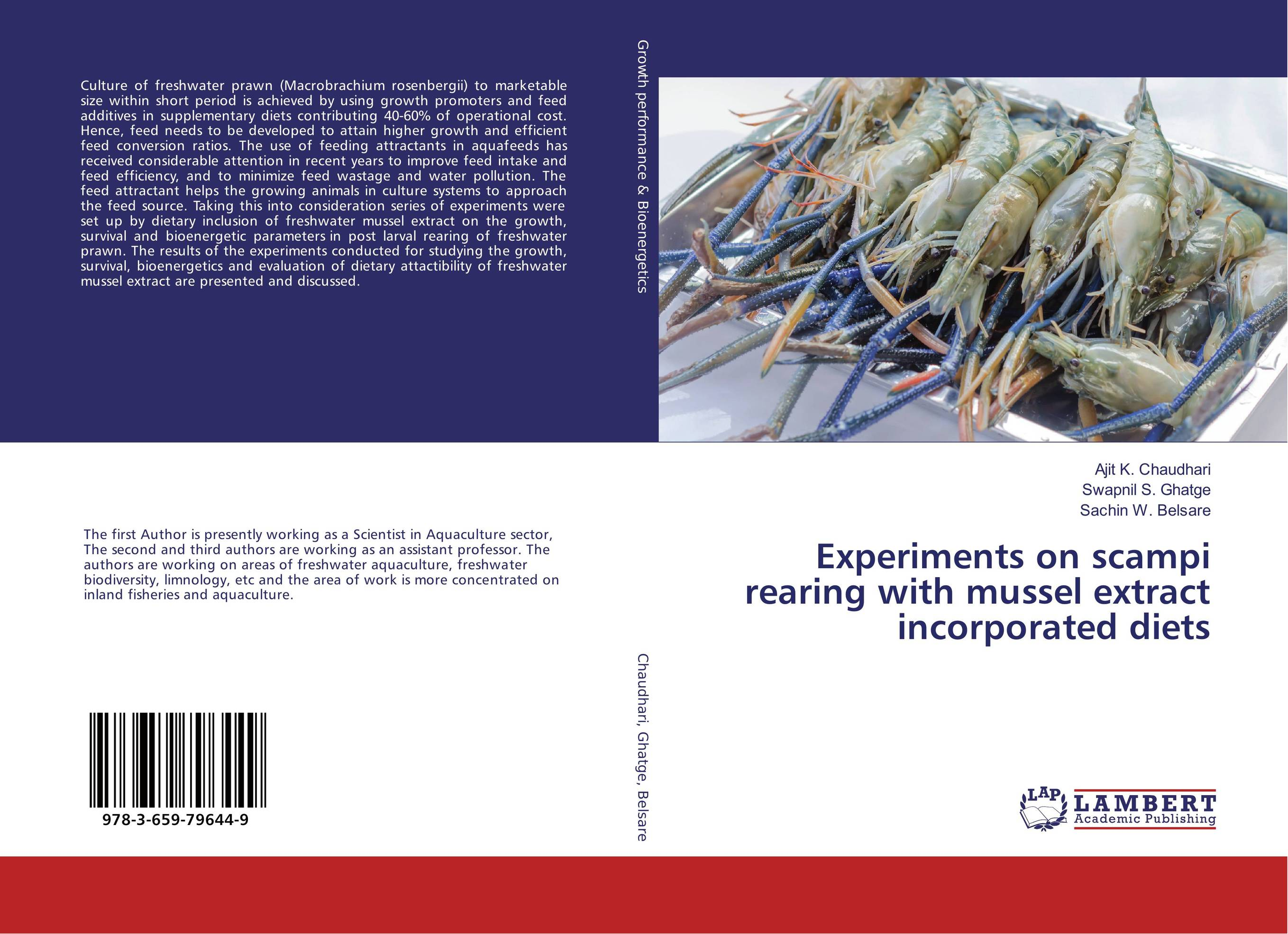 Experiments on scampi rearing with mussel extract incorporated diets microbial quality of freshwater prawn