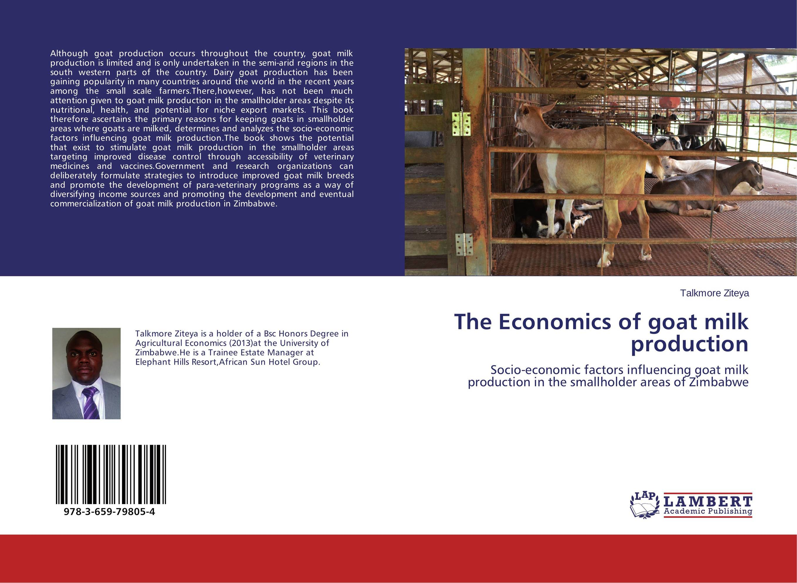 The Economics of goat milk production claw disorders in dairy cows under smallholder zero grazing units