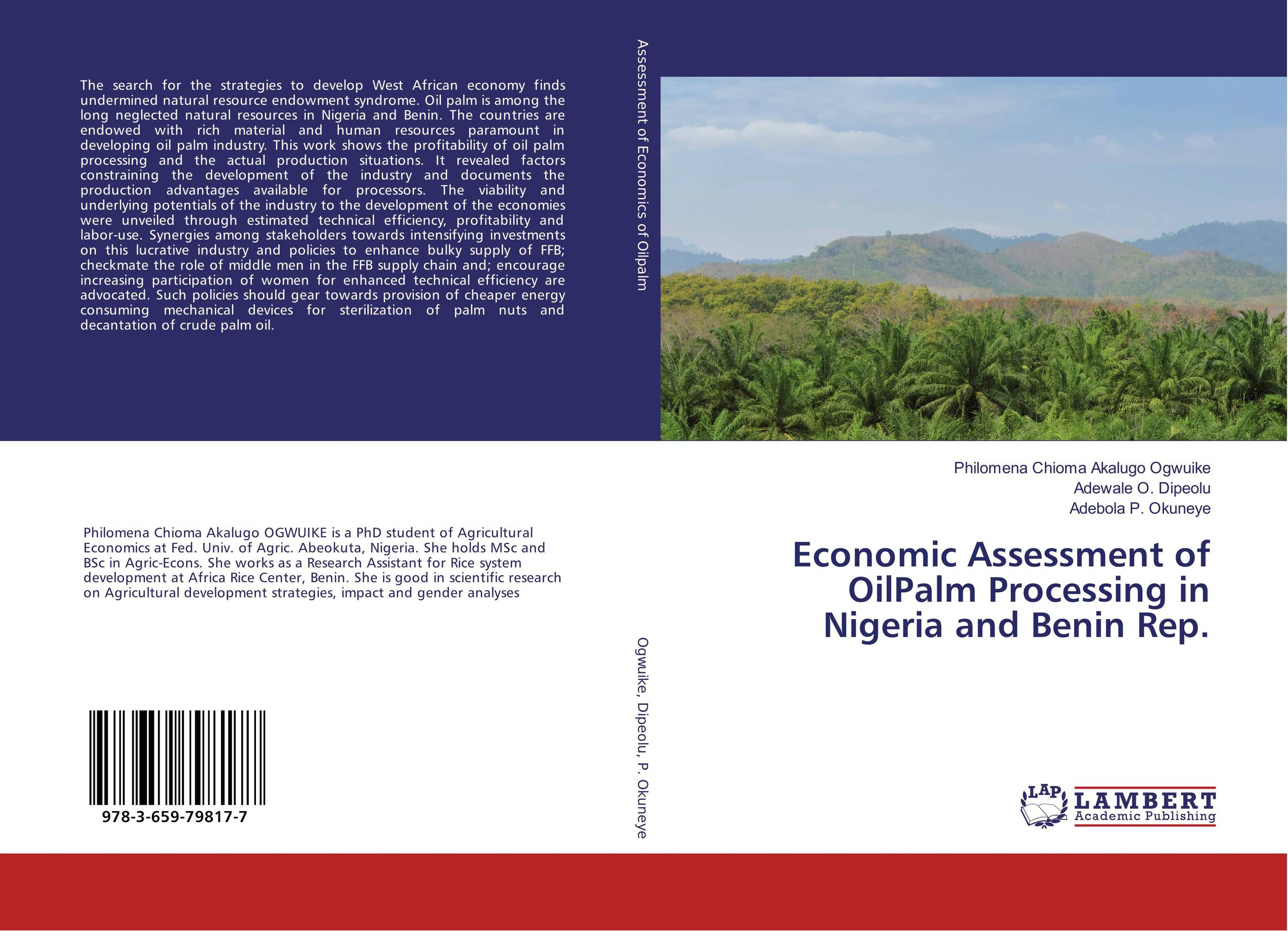 Economic Assessment of OilPalm Processing in Nigeria and Benin Rep. gender and socio economic wellbeing of older persons in nigeria