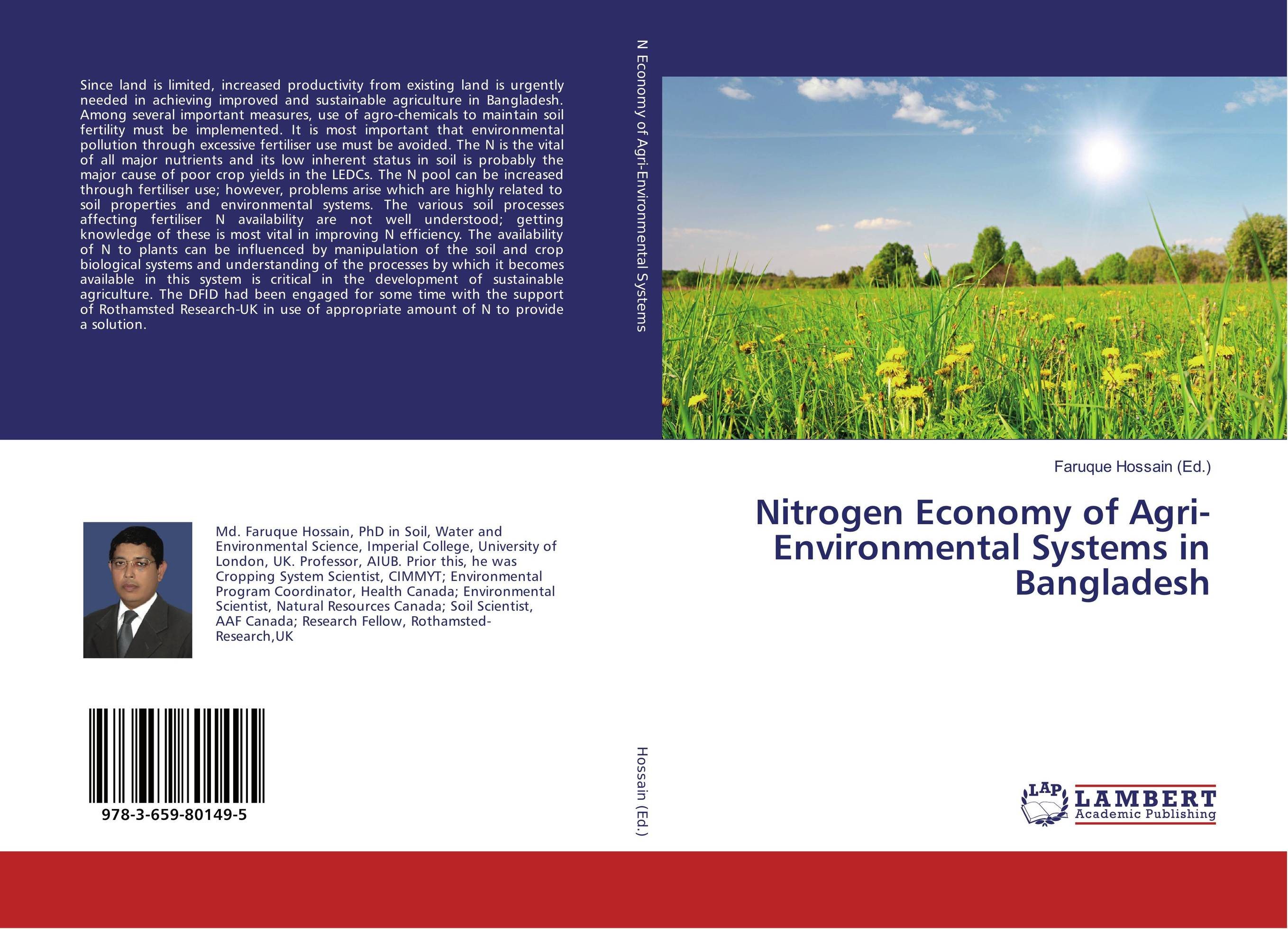 Nitrogen Economy of Agri-Environmental Systems in Bangladesh baljit singh polymeric pesticide delivery systems to control environmental hazards