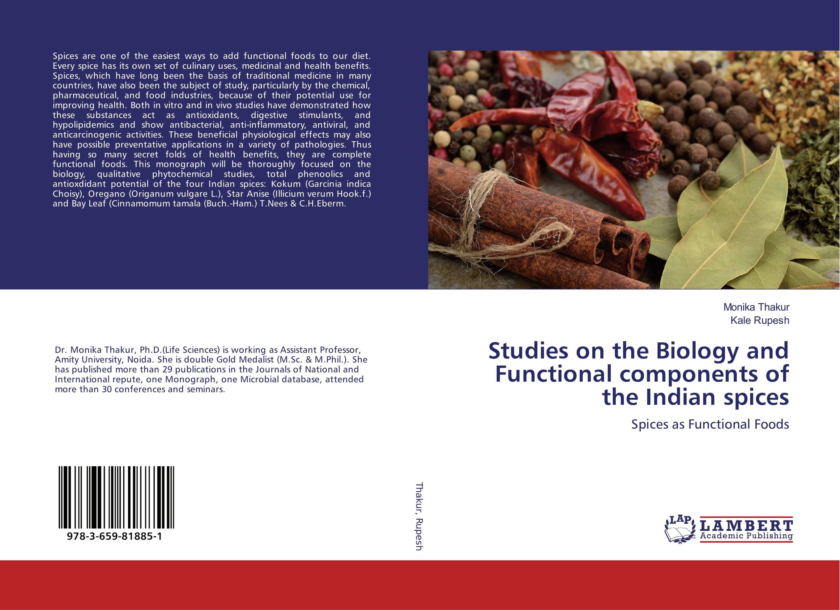 Studies on the Biology and Functional components of the Indian spices chemical studies on toxic effects of cadmium