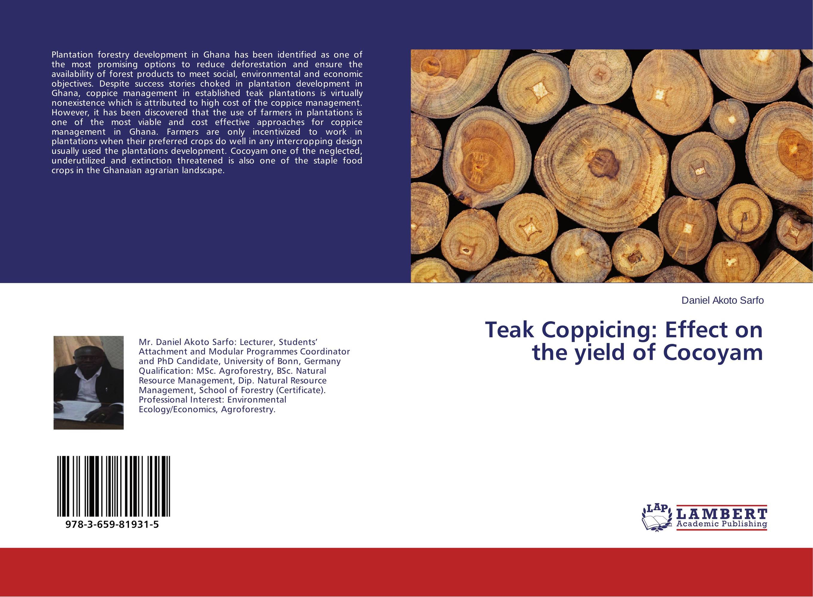 Teak Coppicing: Effect on the yield of Cocoyam haunted plantations of virginia