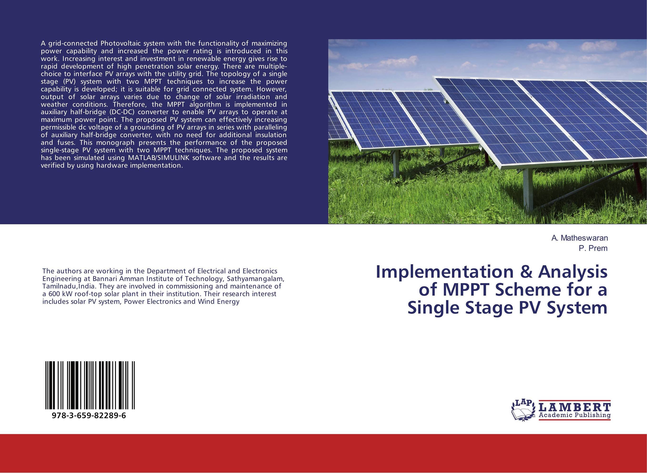 Implementation & Analysis of MPPT Scheme for a Single Stage PV System digital display 5000w peak 10000w pure sine wave power inverter 24v dc to 220v 230v 240v off grid power converter solar system