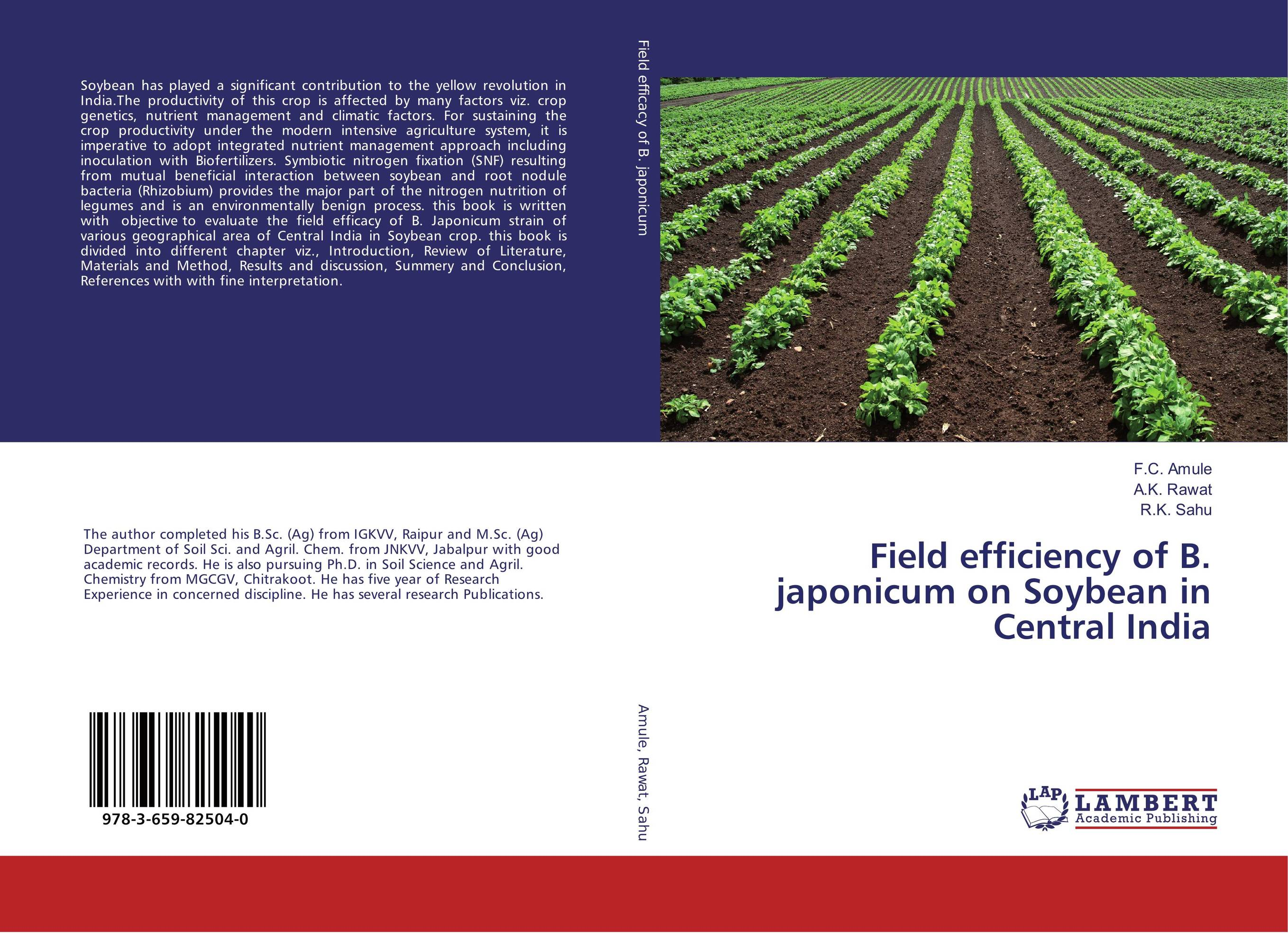 Field efficiency of B. japonicum on Soybean in Central India