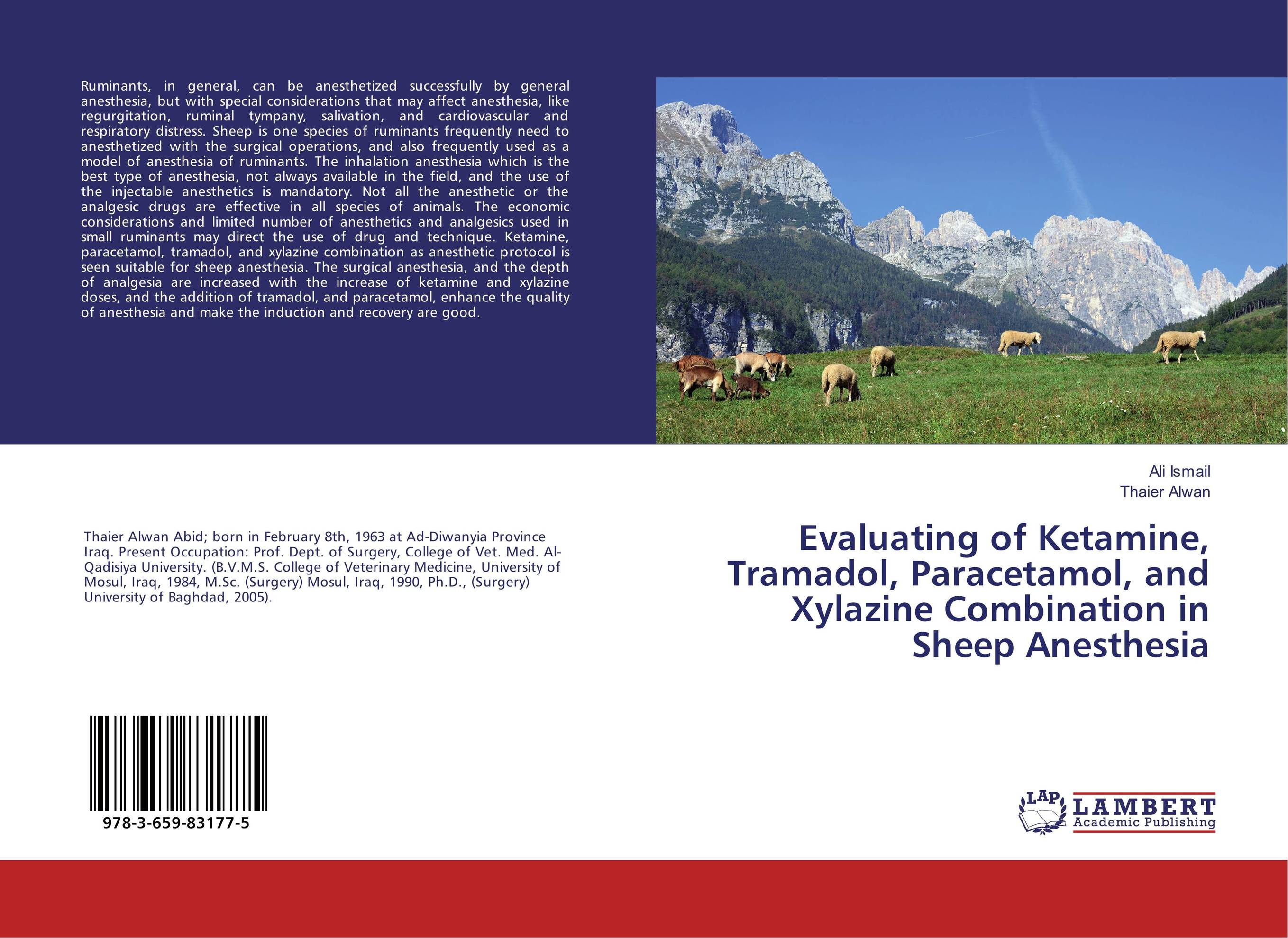 Evaluating of Ketamine, Tramadol, Paracetamol, and Xylazine Combination in Sheep Anesthesia dilbag singh gill evaluating overheads of integrated multilevel checkpointing algorithms
